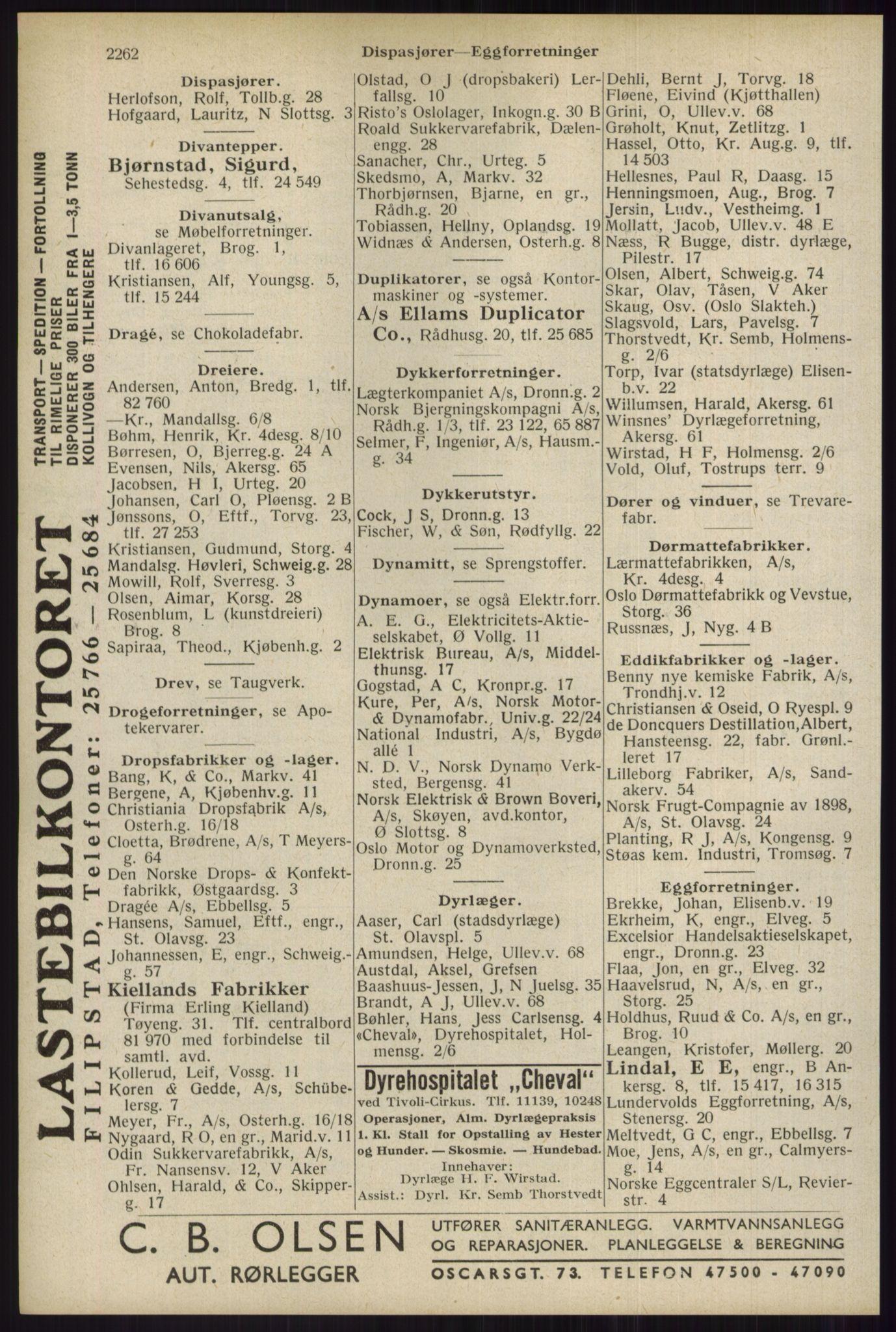 RA, Oslo adressebok (publikasjon)*, 1934, s. 2262
