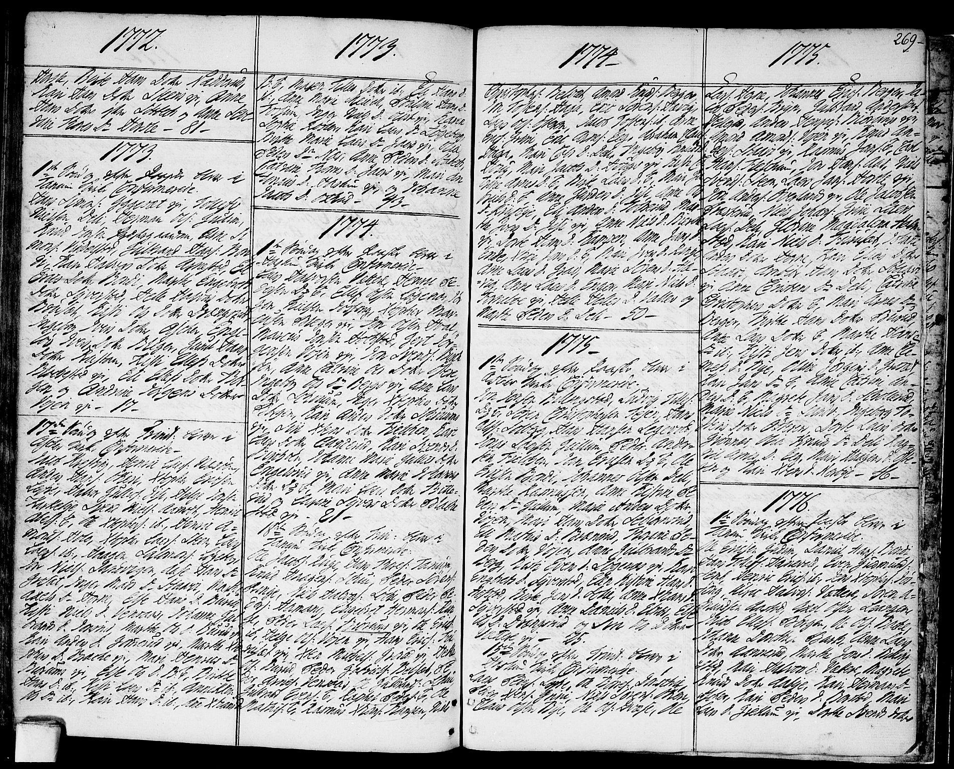 SAO, Asker prestekontor Kirkebøker, F/Fa/L0003: Ministerialbok nr. I 3, 1767-1807, s. 269