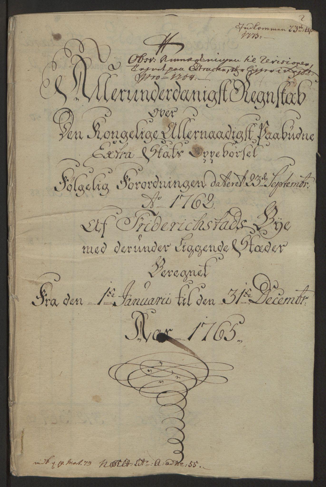 RA, Rentekammeret inntil 1814, Reviderte regnskaper, Byregnskaper, R/Rb/L0029: [B3] Kontribusjonsregnskap, 1762-1772, s. 138