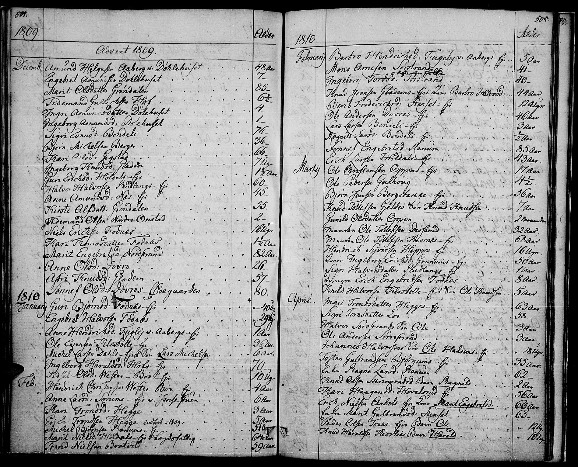 SAH, Nord-Aurdal prestekontor, Ministerialbok nr. 1, 1808-1815, s. 504-505