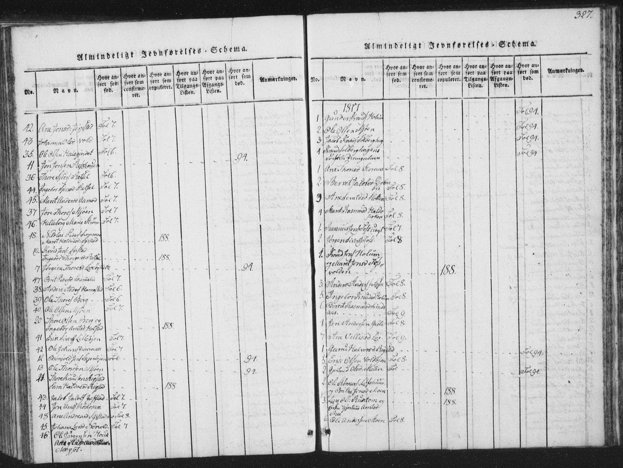 SAT, Ministerialprotokoller, klokkerbøker og fødselsregistre - Sør-Trøndelag, 672/L0862: Klokkerbok nr. 672C01, 1816-1831, s. 327