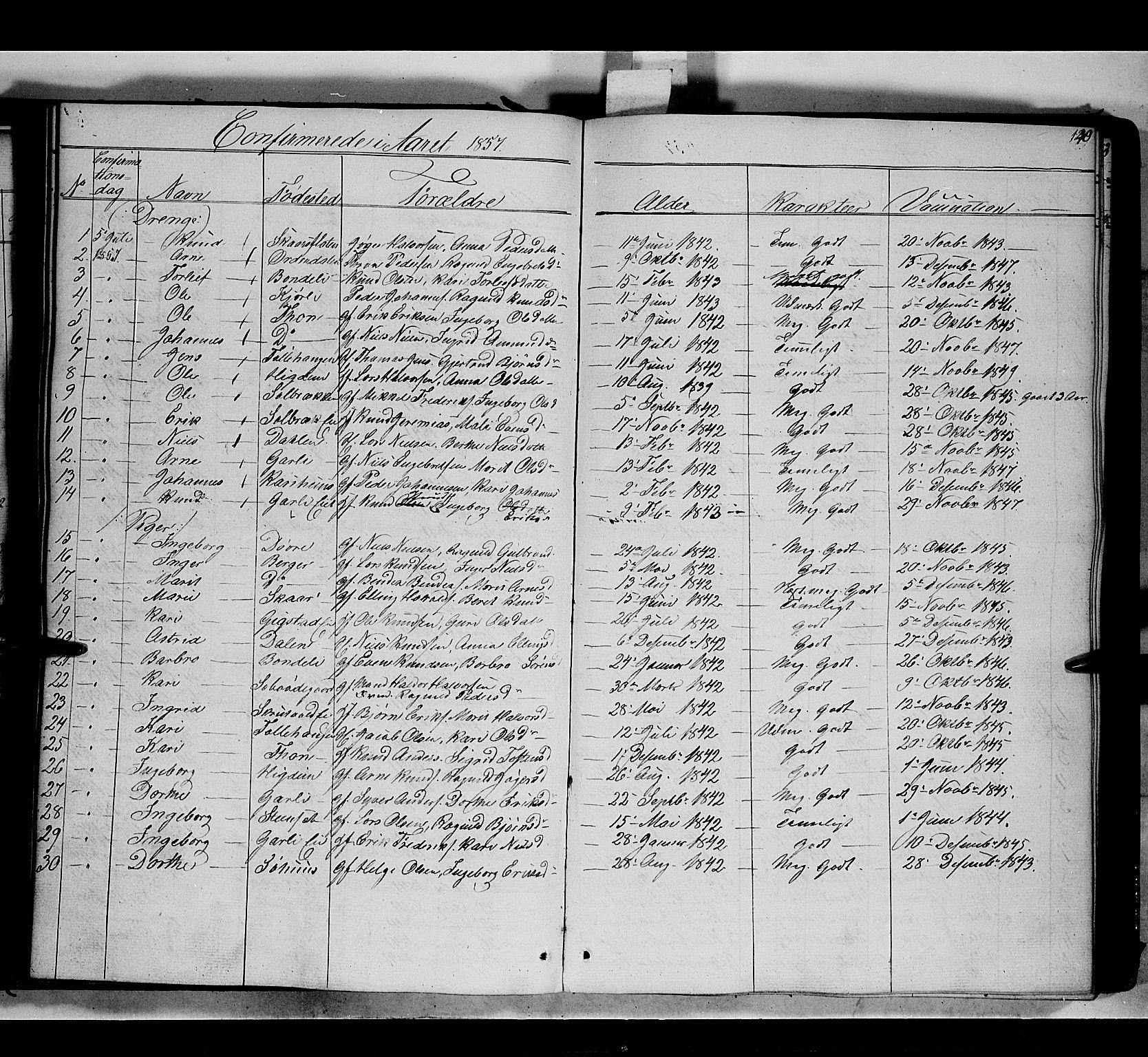 SAH, Nord-Aurdal prestekontor, Ministerialbok nr. 7, 1842-1863, s. 140