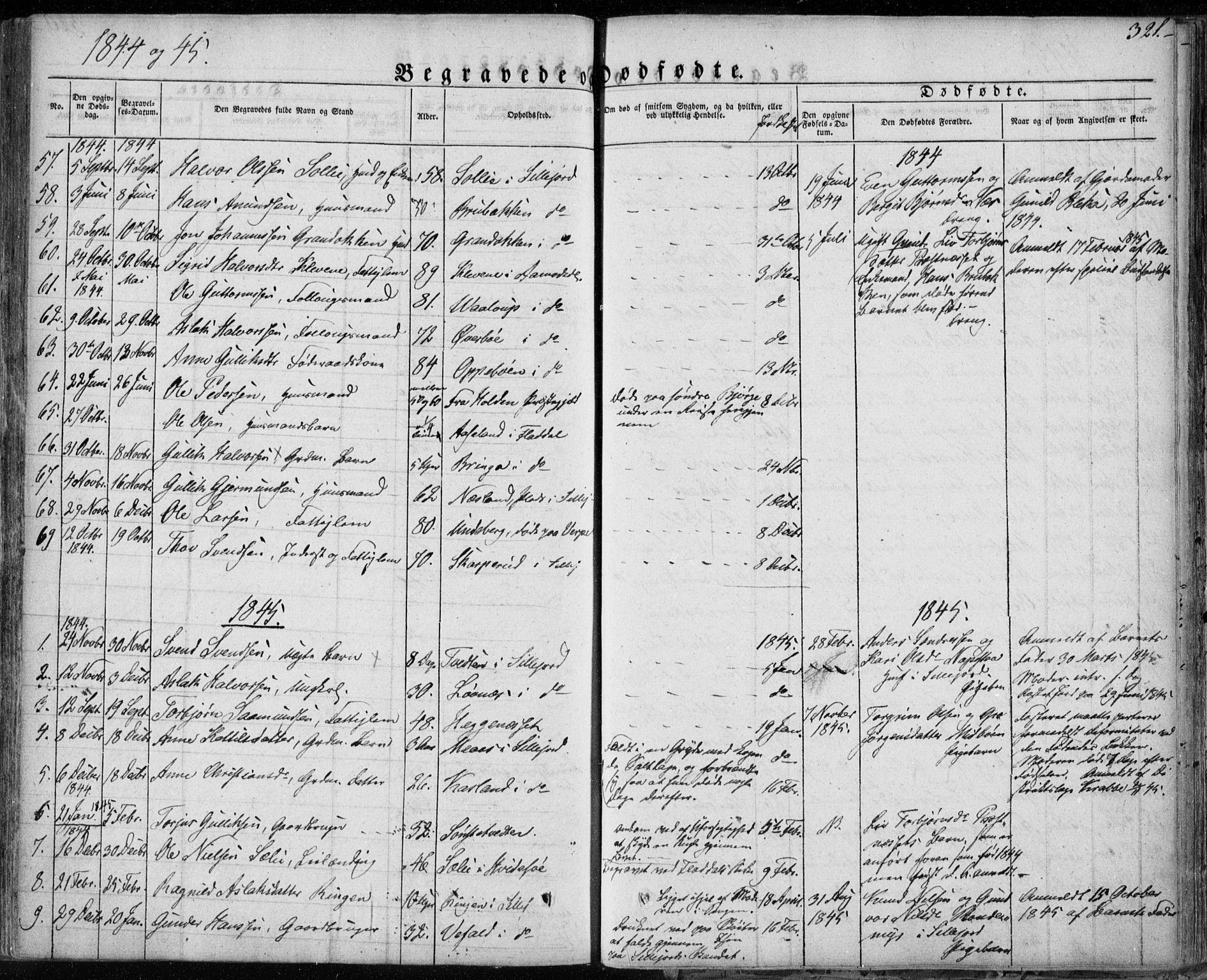 SAKO, Seljord kirkebøker, F/Fa/L0011: Ministerialbok nr. I 11, 1831-1849, s. 321