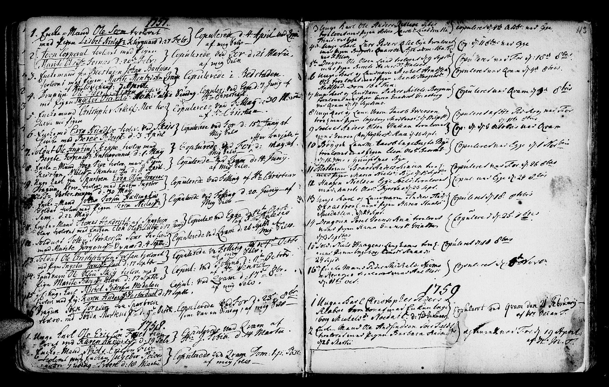 SAT, Ministerialprotokoller, klokkerbøker og fødselsregistre - Nord-Trøndelag, 746/L0439: Ministerialbok nr. 746A01, 1688-1759, s. 113