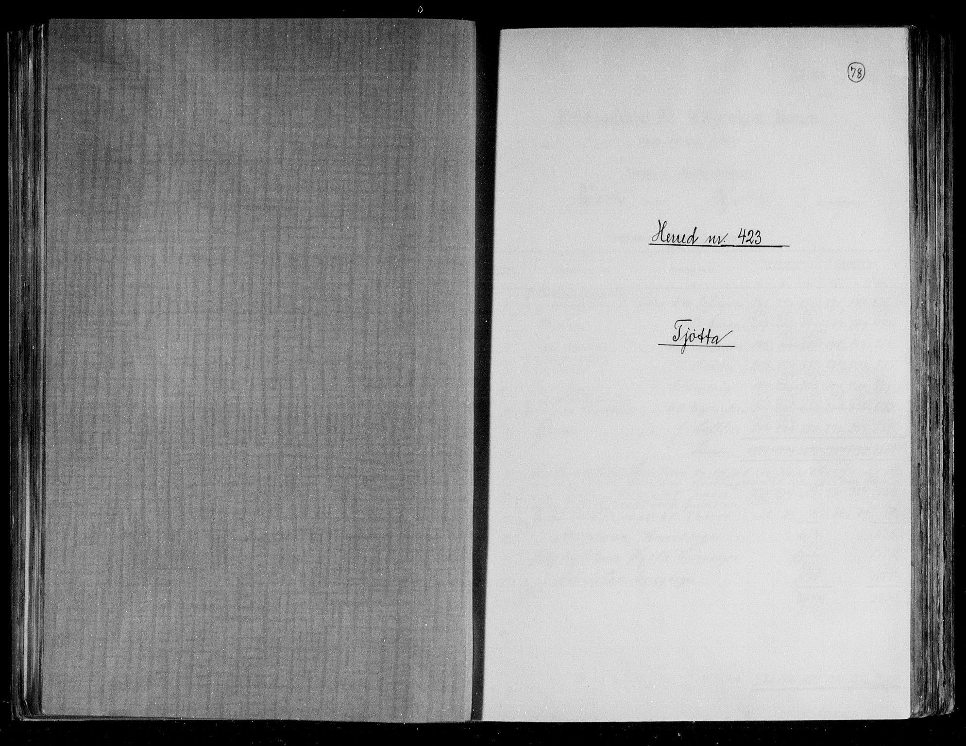 RA, Folketelling 1891 for 1817 Tjøtta herred, 1891, s. 1