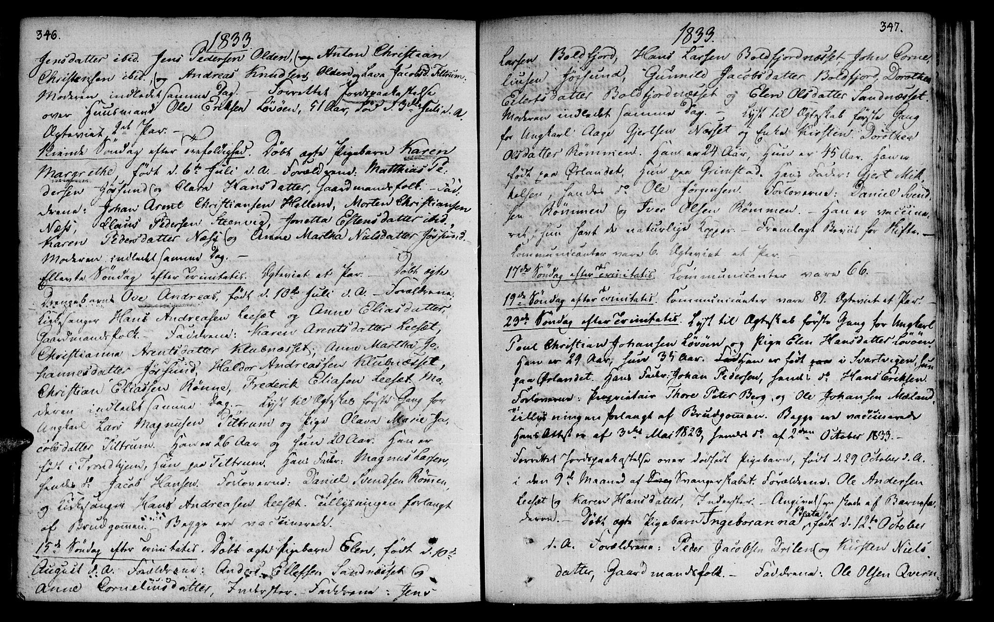 SAT, Ministerialprotokoller, klokkerbøker og fødselsregistre - Sør-Trøndelag, 655/L0674: Ministerialbok nr. 655A03, 1802-1826, s. 346-347