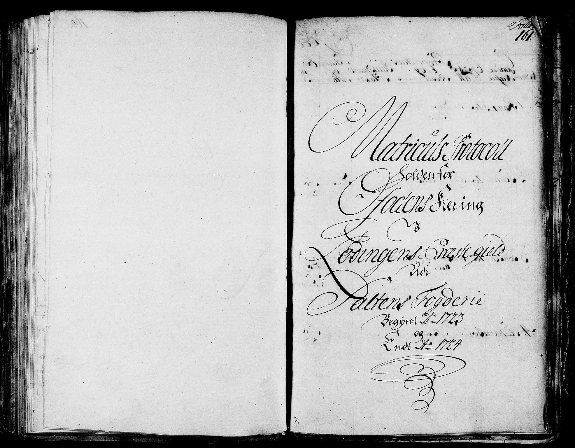 RA, Rentekammeret inntil 1814, Realistisk ordnet avdeling, N/Nb/Nbf/L0172: Salten eksaminasjonsprotokoll, 1723, s. 160b-161a