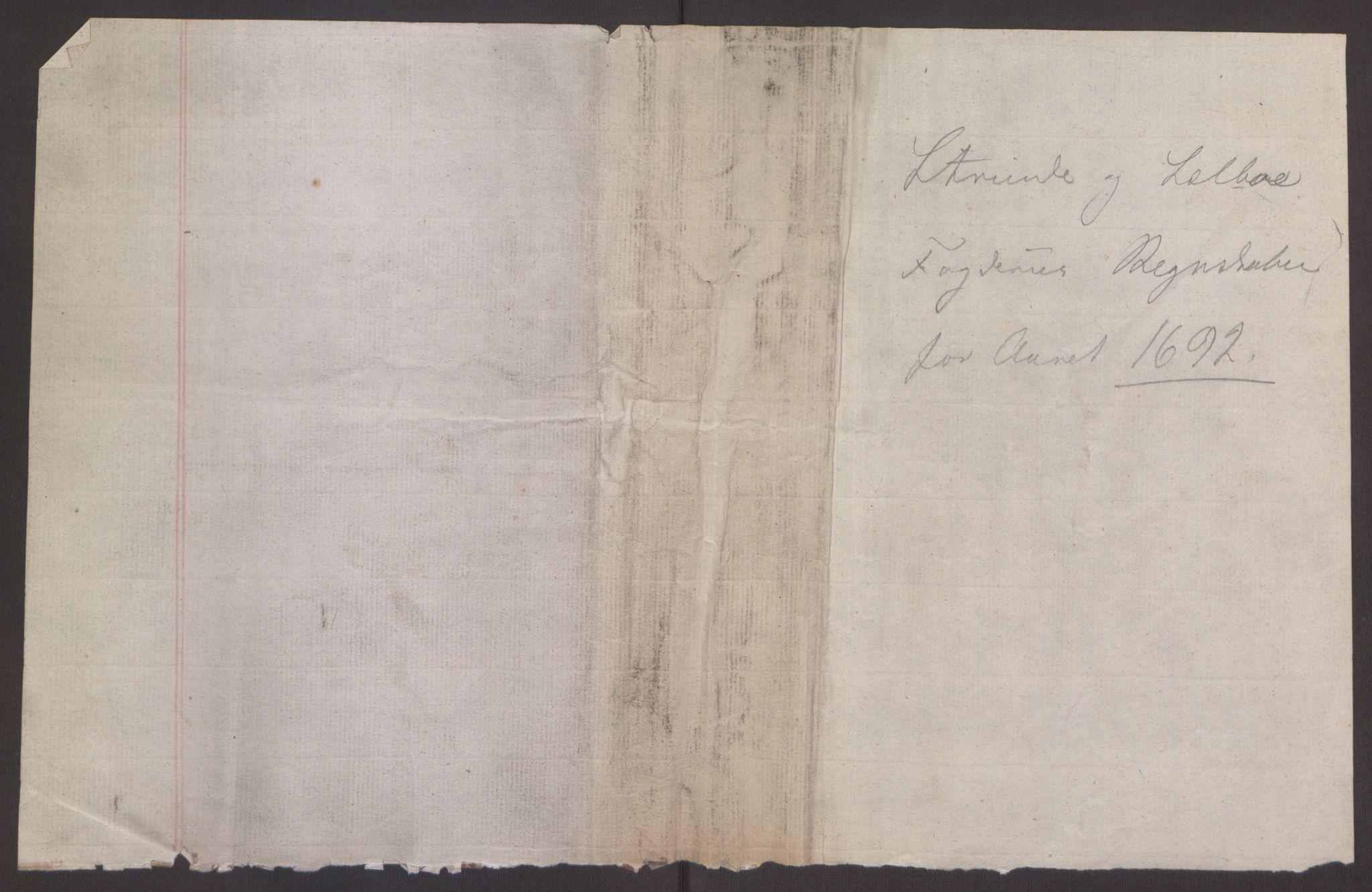 RA, Rentekammeret inntil 1814, Reviderte regnskaper, Fogderegnskap, R61/L4103: Fogderegnskap Strinda og Selbu, 1691-1692, s. 388