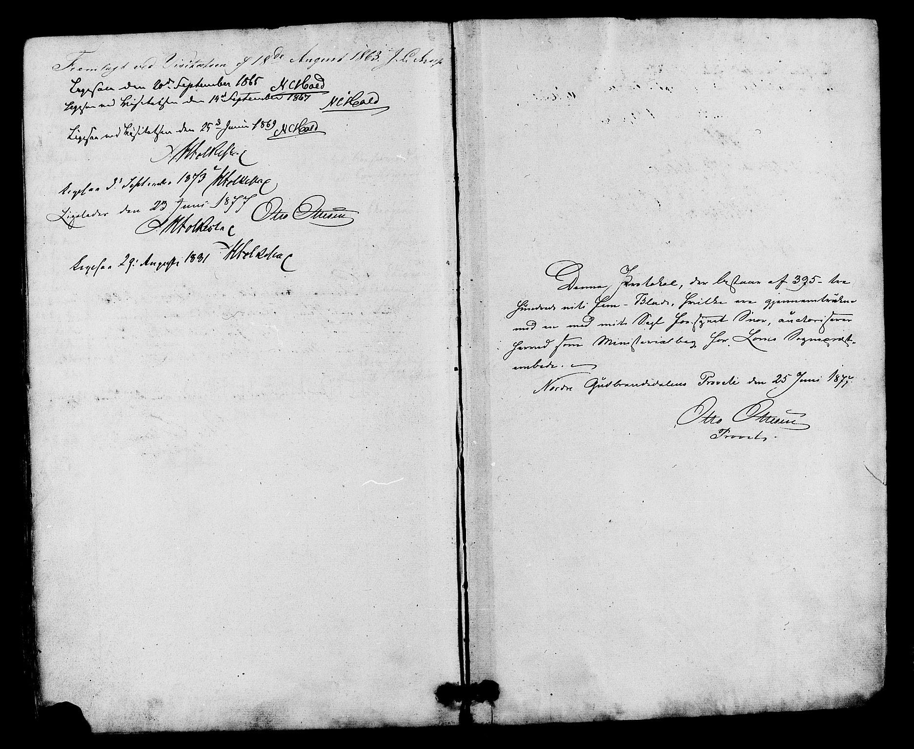 SAH, Lom prestekontor, K/L0007: Ministerialbok nr. 7, 1863-1884