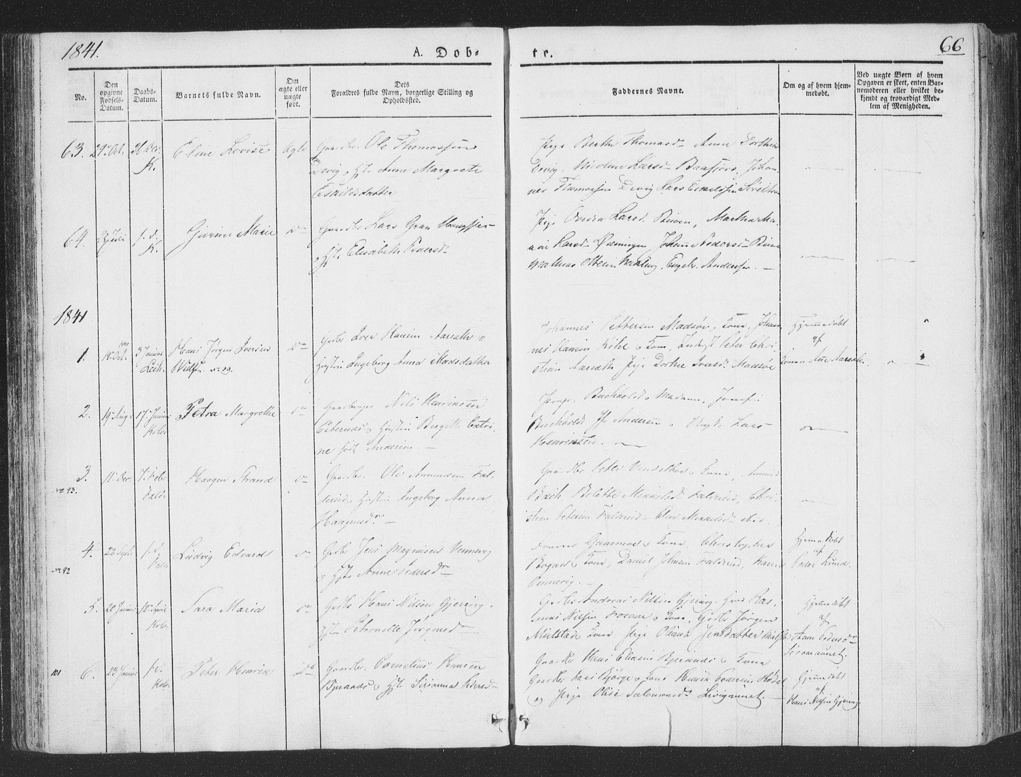 SAT, Ministerialprotokoller, klokkerbøker og fødselsregistre - Nord-Trøndelag, 780/L0639: Ministerialbok nr. 780A04, 1830-1844, s. 66