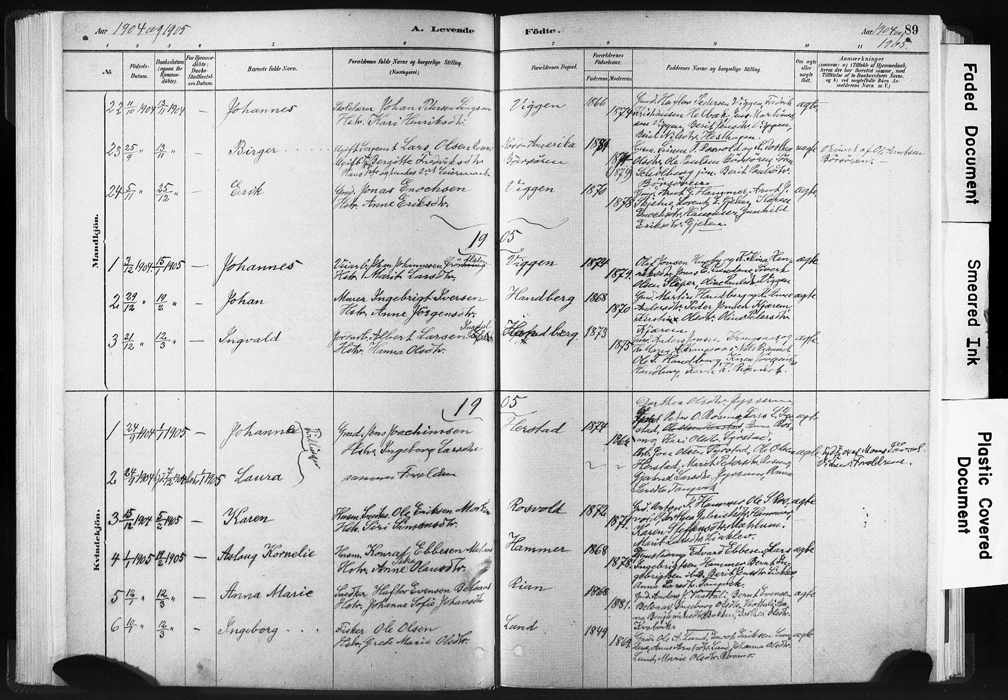 SAT, Ministerialprotokoller, klokkerbøker og fødselsregistre - Sør-Trøndelag, 665/L0773: Ministerialbok nr. 665A08, 1879-1905, s. 89