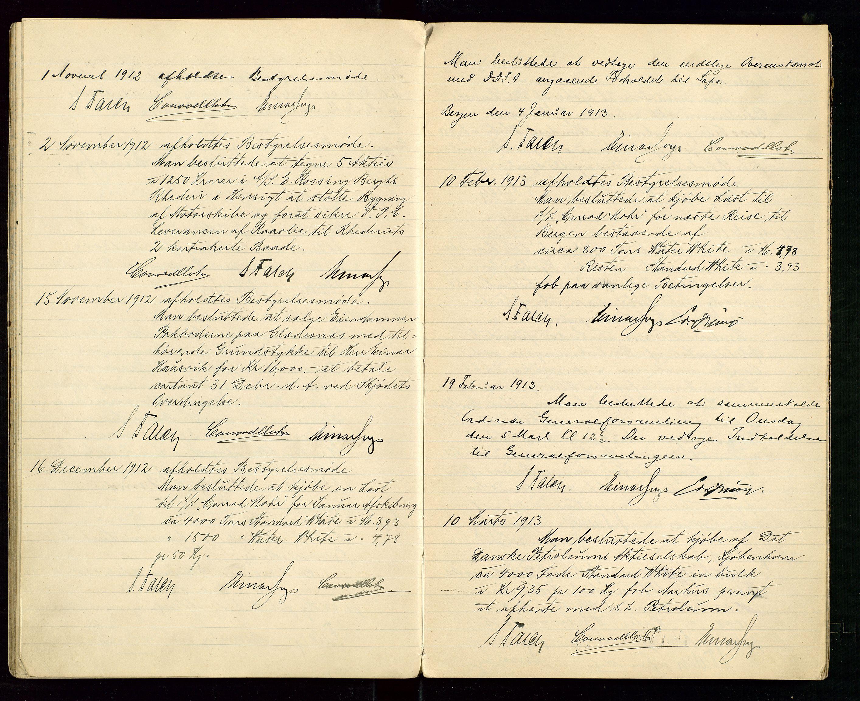 SAST, PA 1533 - A/S Vestlandske Petroleumscompani, A/Aa/L0001: Generalforsamlinger og styreprotokoller, 1907-1915, s. 46
