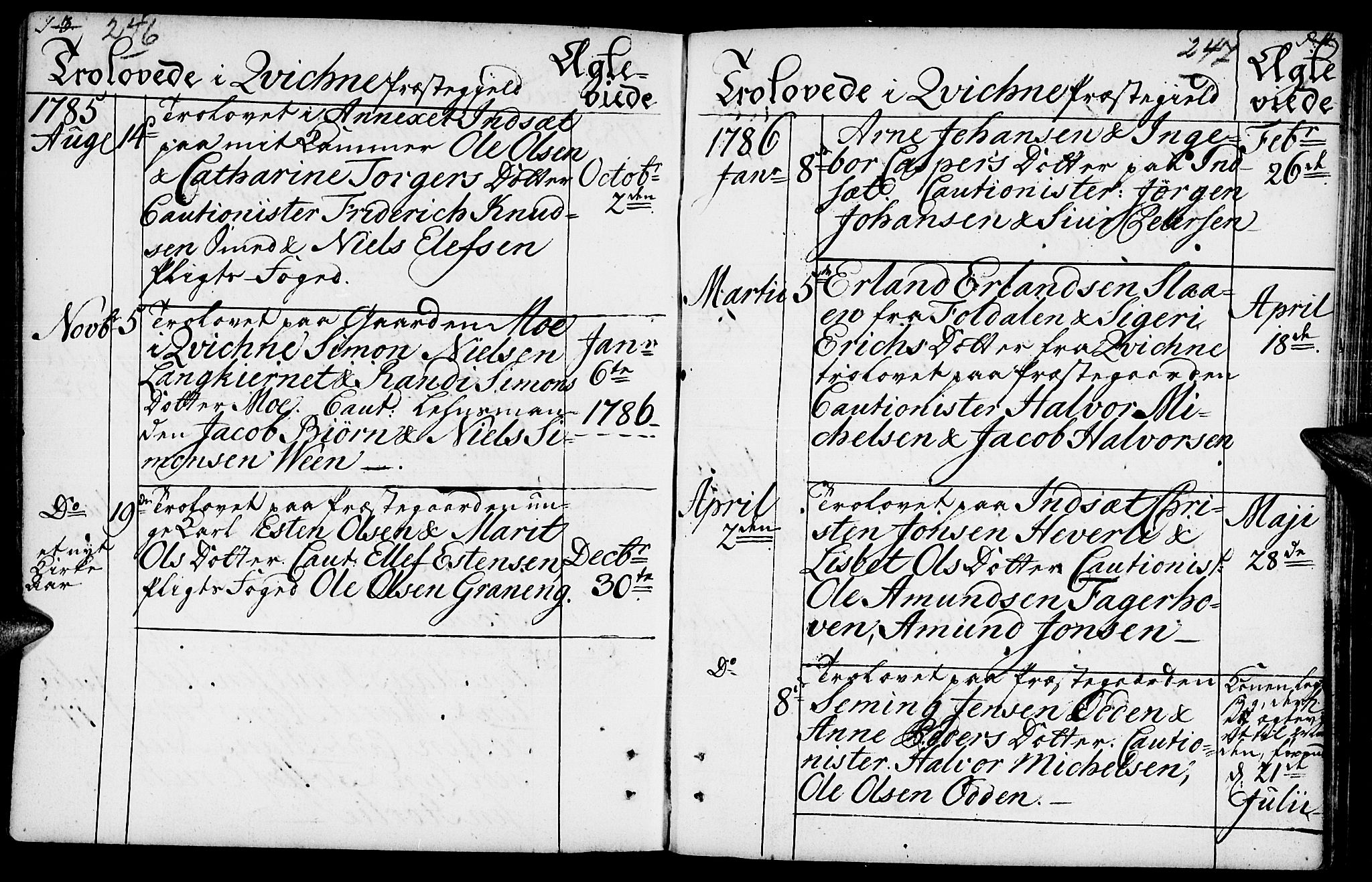 SAH, Kvikne prestekontor, Ministerialbok nr. 3, 1785-1814, s. 246-247