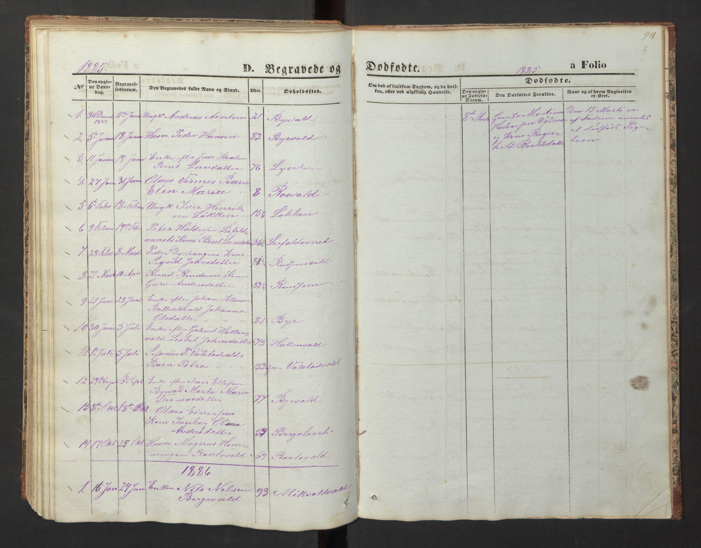 SAT, Ministerialprotokoller, klokkerbøker og fødselsregistre - Nord-Trøndelag, 726/L0271: Klokkerbok nr. 726C02, 1869-1897, s. 94