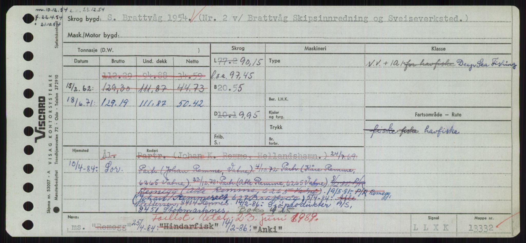 RA, Sjøfartsdirektoratet med forløpere, Skipsmålingen, H/Hd/L0001: Fartøy, A-Anv, s. 649