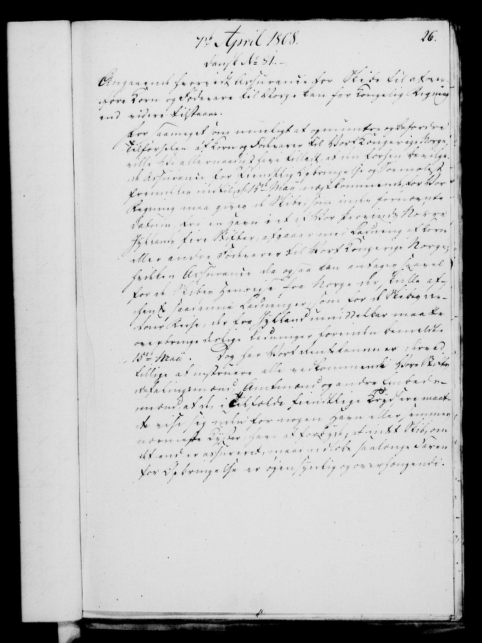 RA, Rentekammeret, Kammerkanselliet, G/Gf/Gfa/L0090: Norsk relasjons- og resolusjonsprotokoll (merket RK 52.90), 1808, s. 165