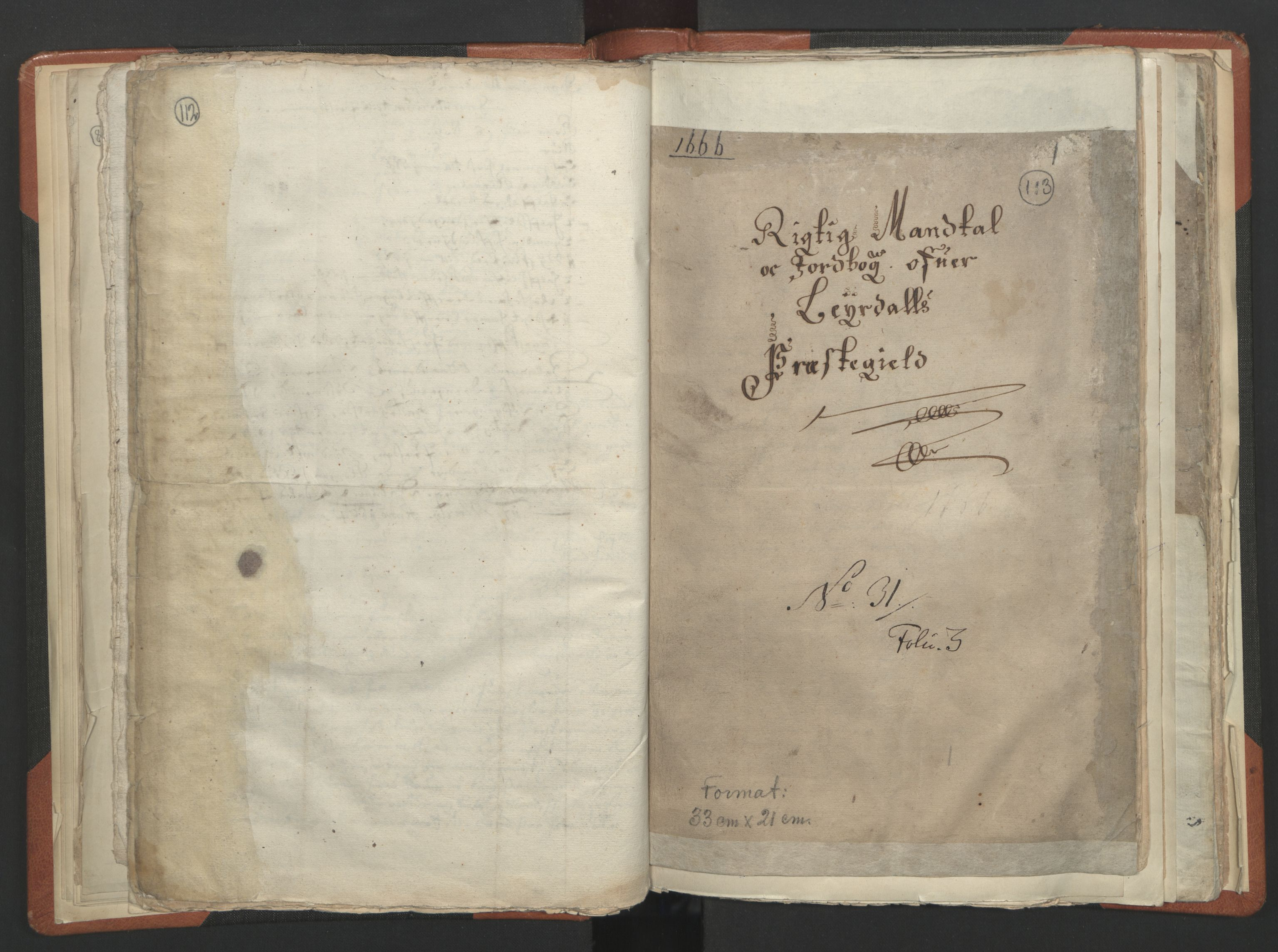 RA, Sogneprestenes manntall 1664-1666, nr. 23: Sogn prosti, 1664-1666, s. 112-113