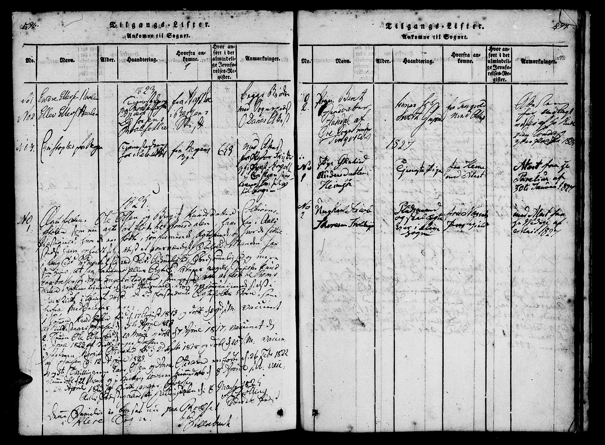 SAT, Ministerialprotokoller, klokkerbøker og fødselsregistre - Møre og Romsdal, 557/L0679: Ministerialbok nr. 557A01, 1818-1843, s. 596-597