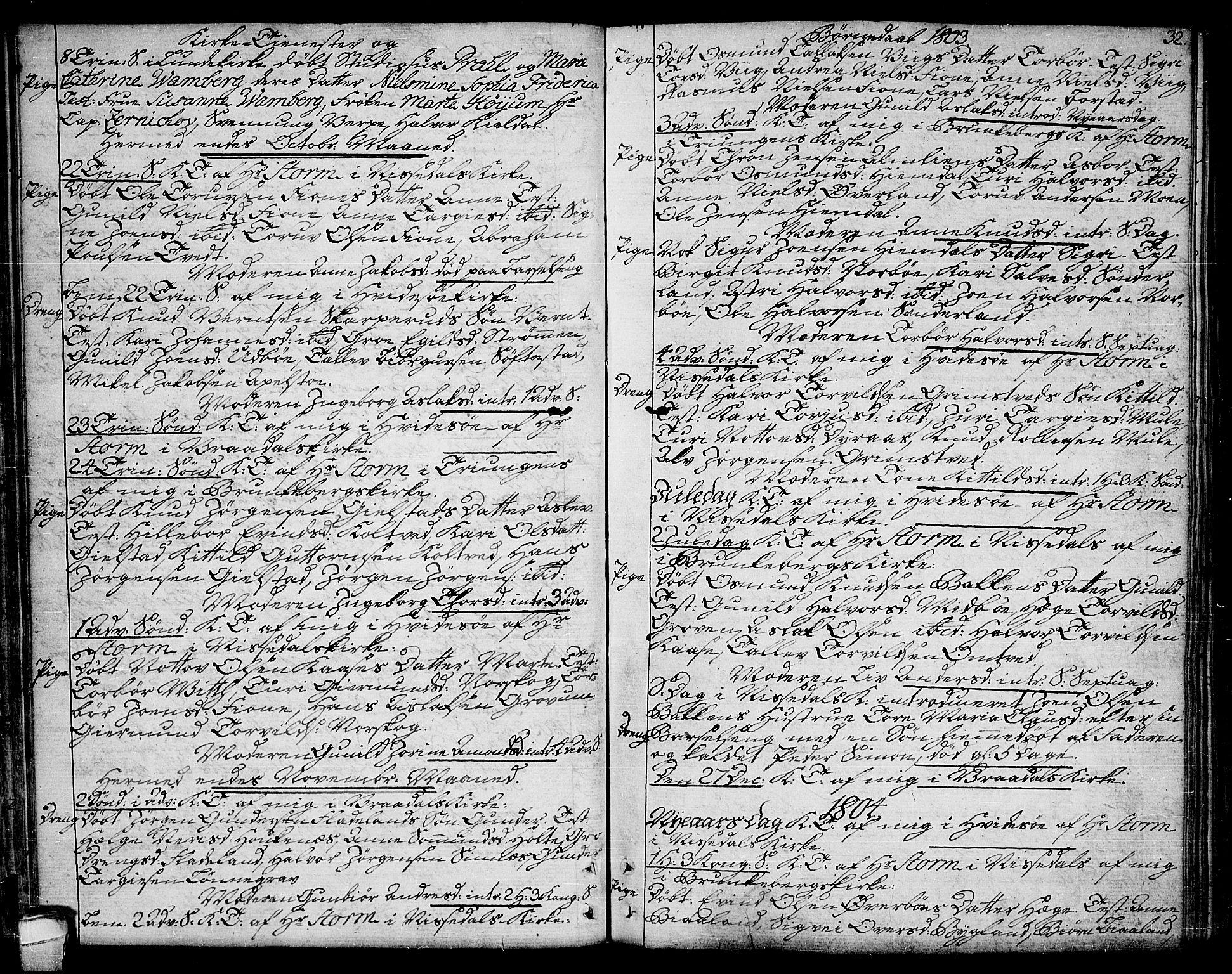 SAKO, Kviteseid kirkebøker, F/Fa/L0004: Ministerialbok nr. I 4, 1800-1814, s. 32