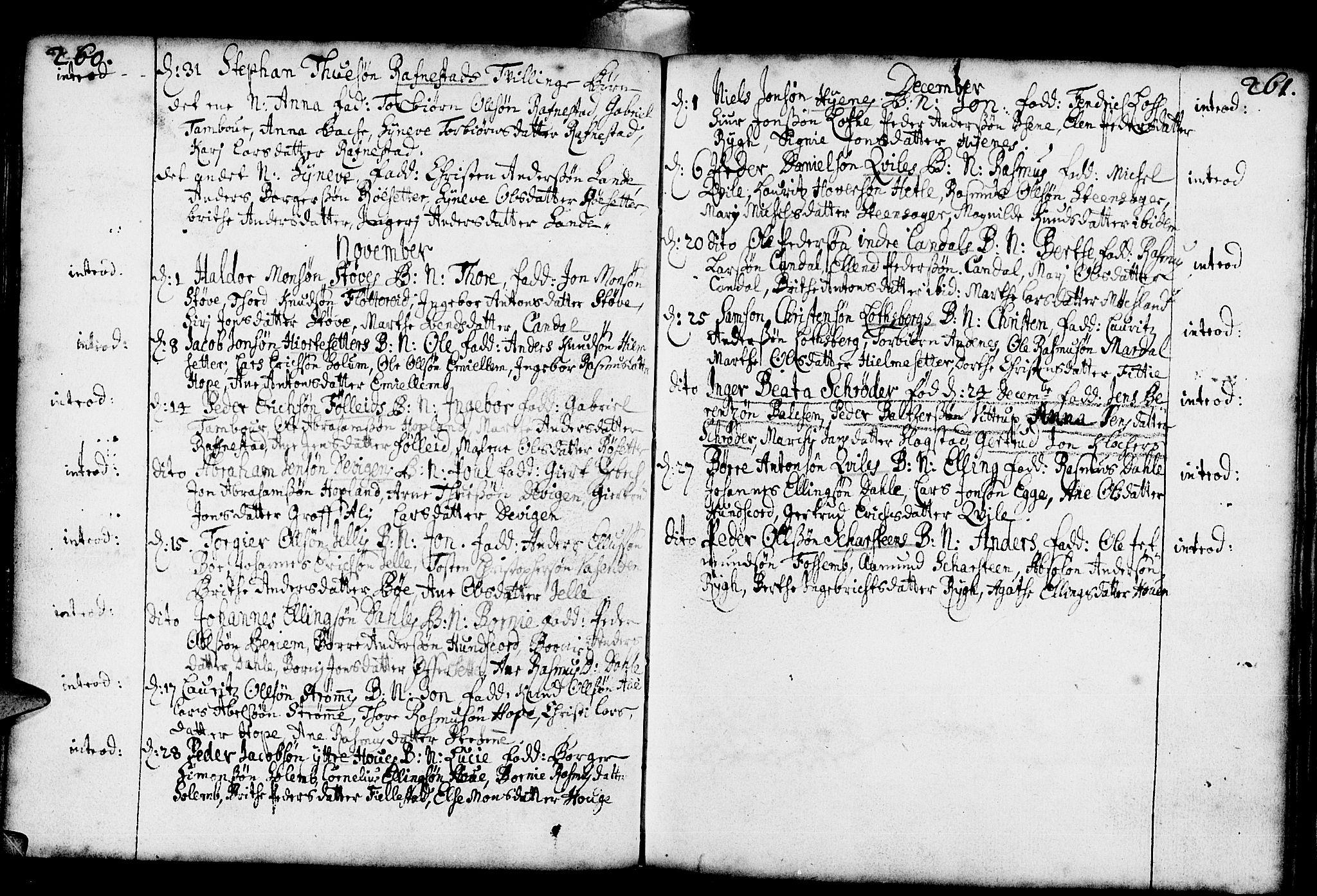 SAB, Gloppen Sokneprestembete, H/Haa/Haaa/L0001: Ministerialbok nr. A 1, 1686-1711, s. 260-261