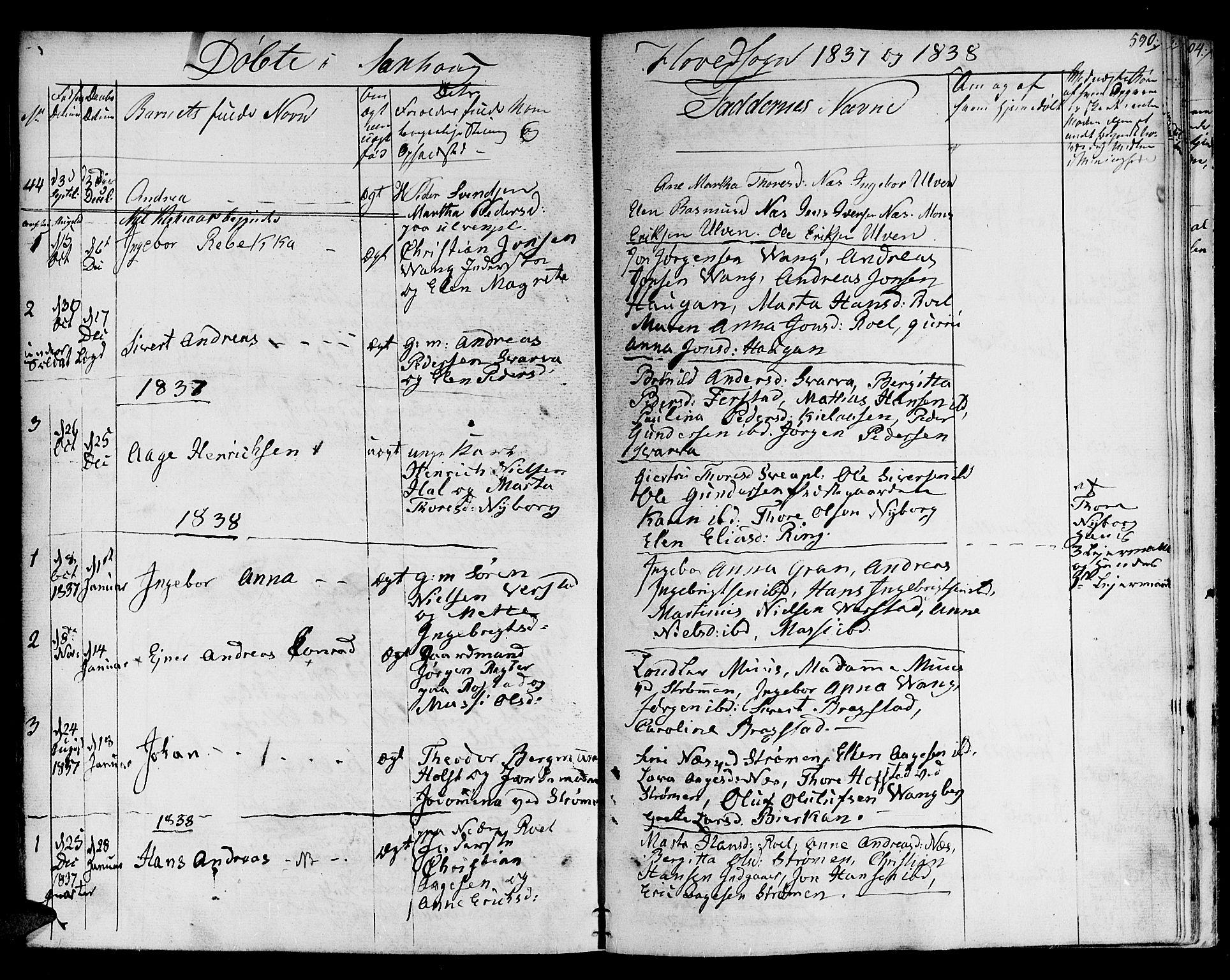 SAT, Ministerialprotokoller, klokkerbøker og fødselsregistre - Nord-Trøndelag, 730/L0277: Ministerialbok nr. 730A06 /1, 1830-1839, s. 590