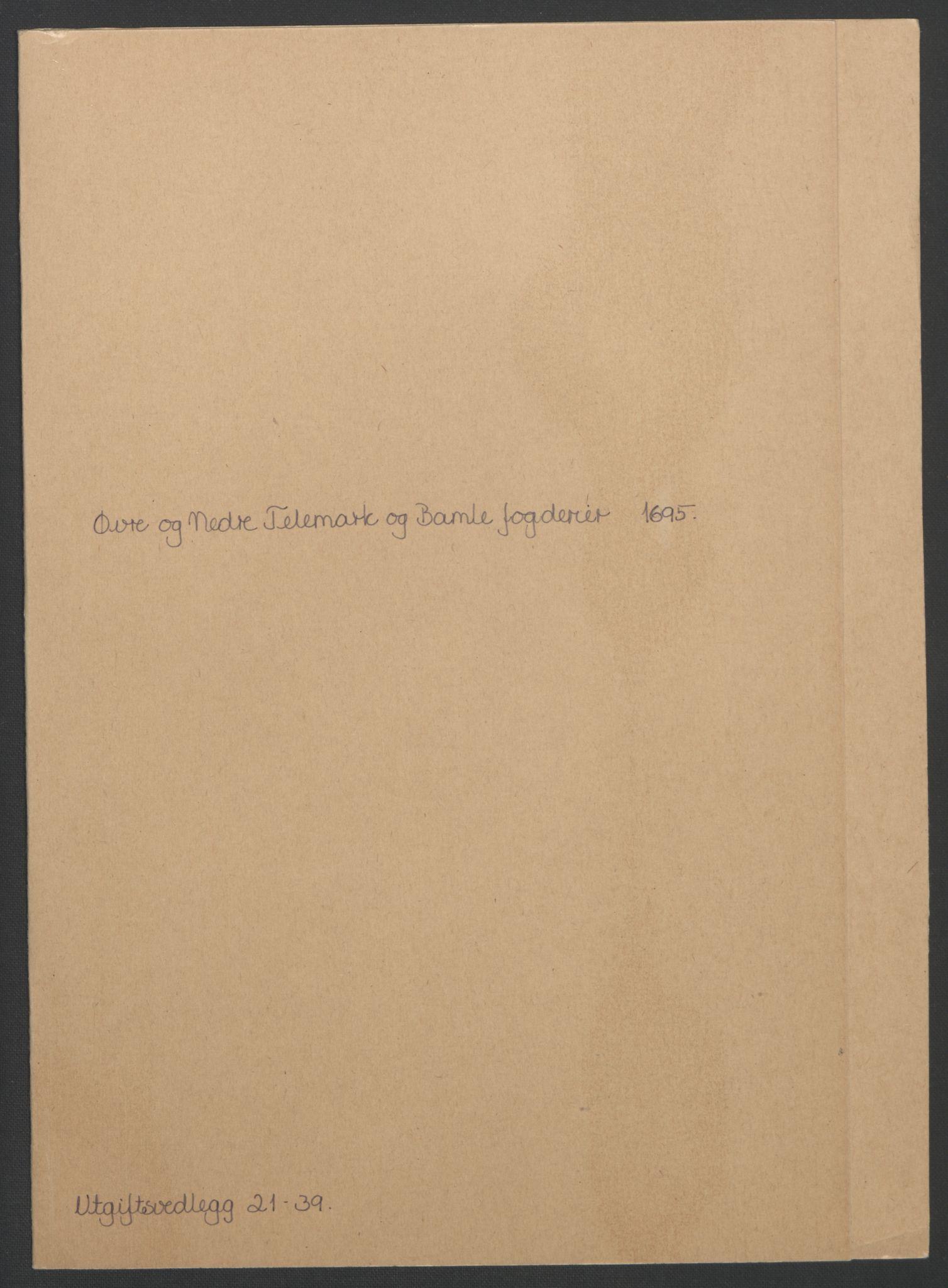 RA, Rentekammeret inntil 1814, Reviderte regnskaper, Fogderegnskap, R36/L2093: Fogderegnskap Øvre og Nedre Telemark og Bamble, 1695, s. 473