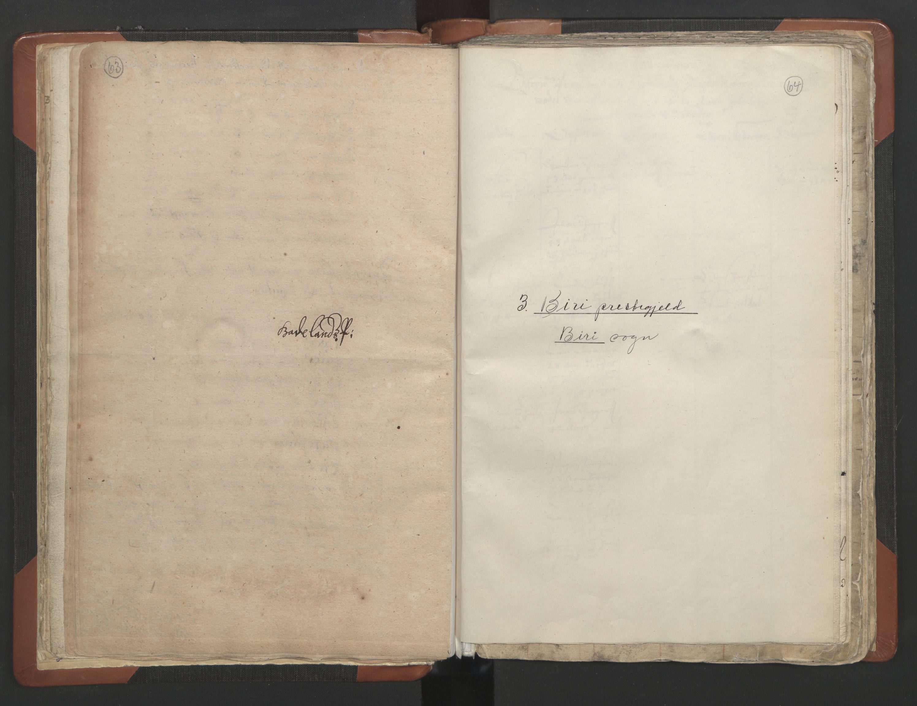 RA, Sogneprestenes manntall 1664-1666, nr. 7: Hadeland prosti, 1664-1666, s. 63-64