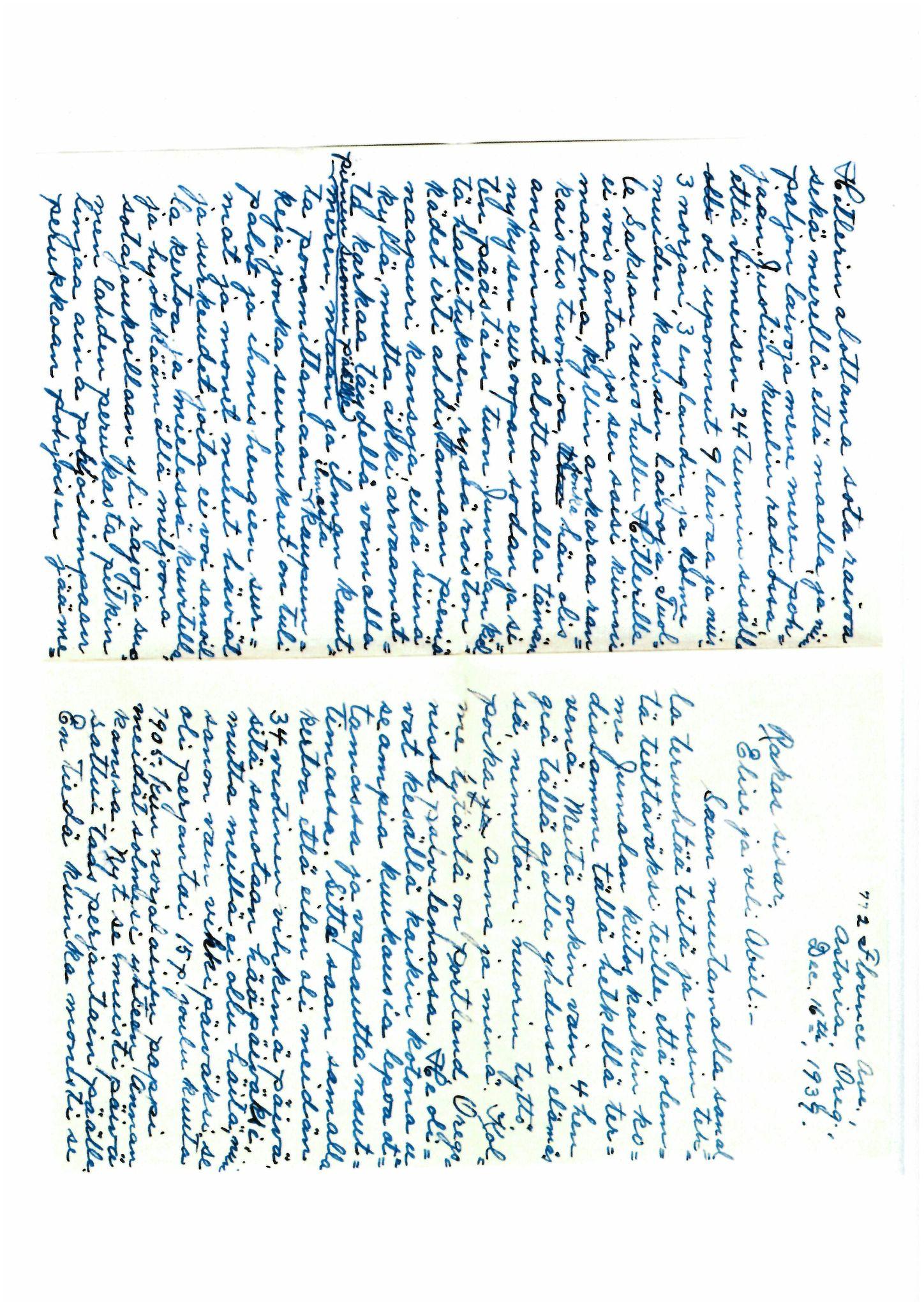 FMFB, Elise Balos brevsamling, F/Fb/L0009: Brev fra Hans J. Lilleeng til sin mor Sofie Lilleeng, 1939