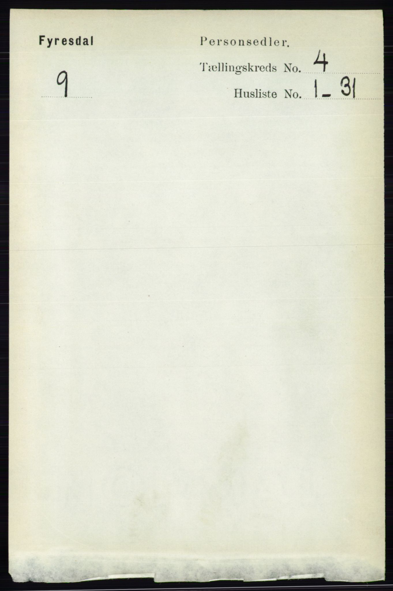RA, Folketelling 1891 for 0831 Fyresdal herred, 1891, s. 808