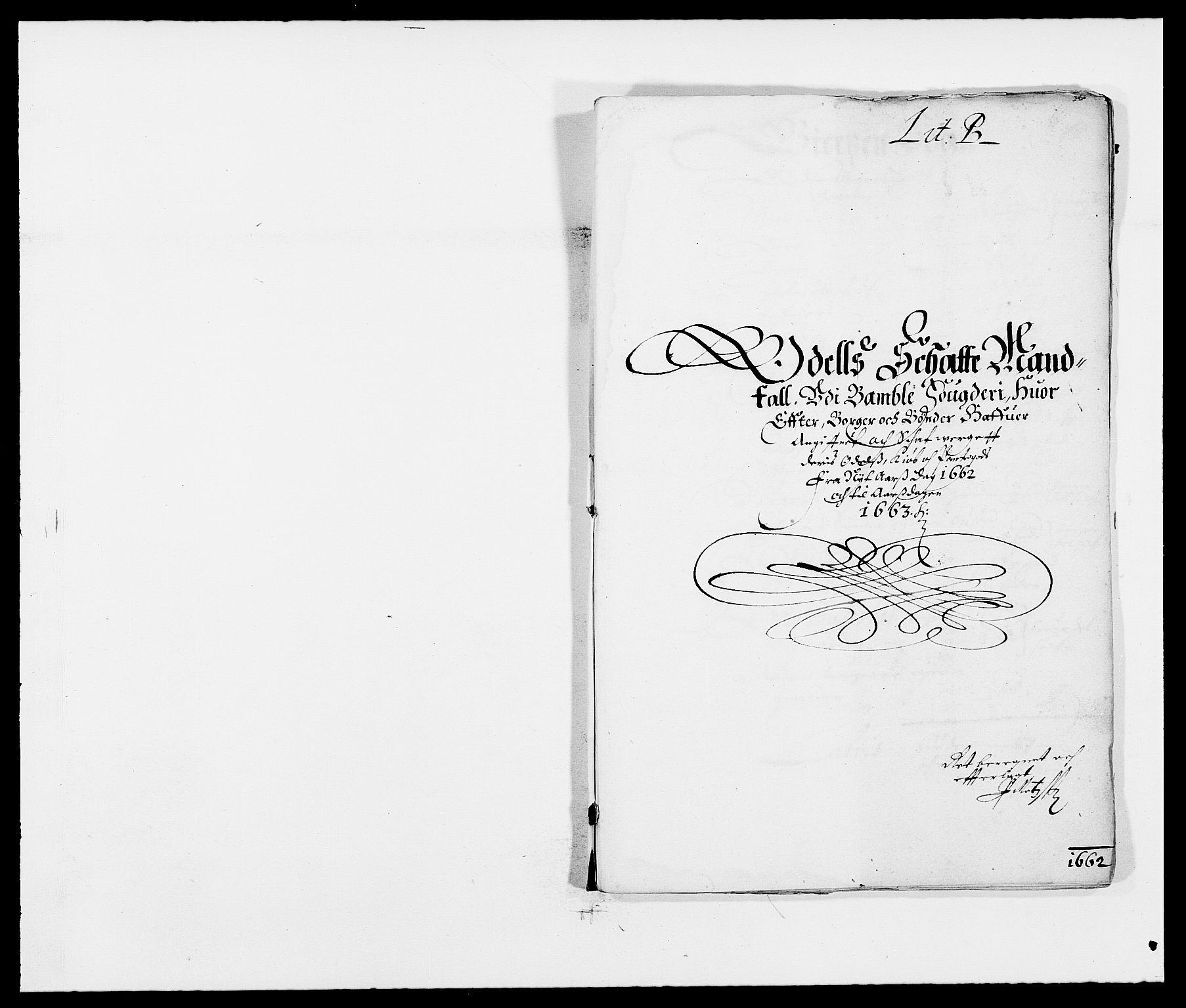 RA, Rentekammeret inntil 1814, Reviderte regnskaper, Fogderegnskap, R34/L2037: Fogderegnskap Bamble, 1662-1669, s. 54