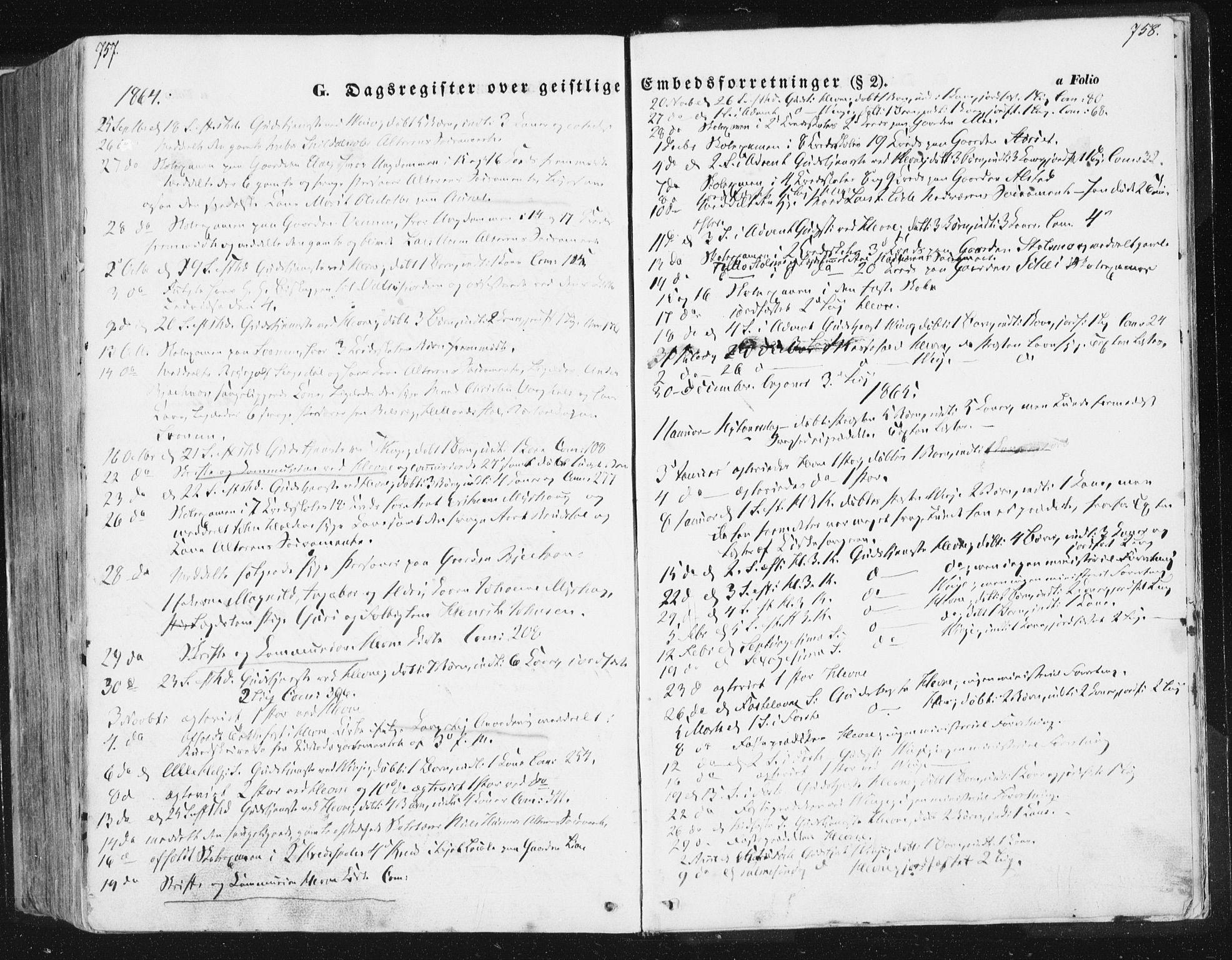 SAT, Ministerialprotokoller, klokkerbøker og fødselsregistre - Sør-Trøndelag, 630/L0494: Ministerialbok nr. 630A07, 1852-1868, s. 757-758