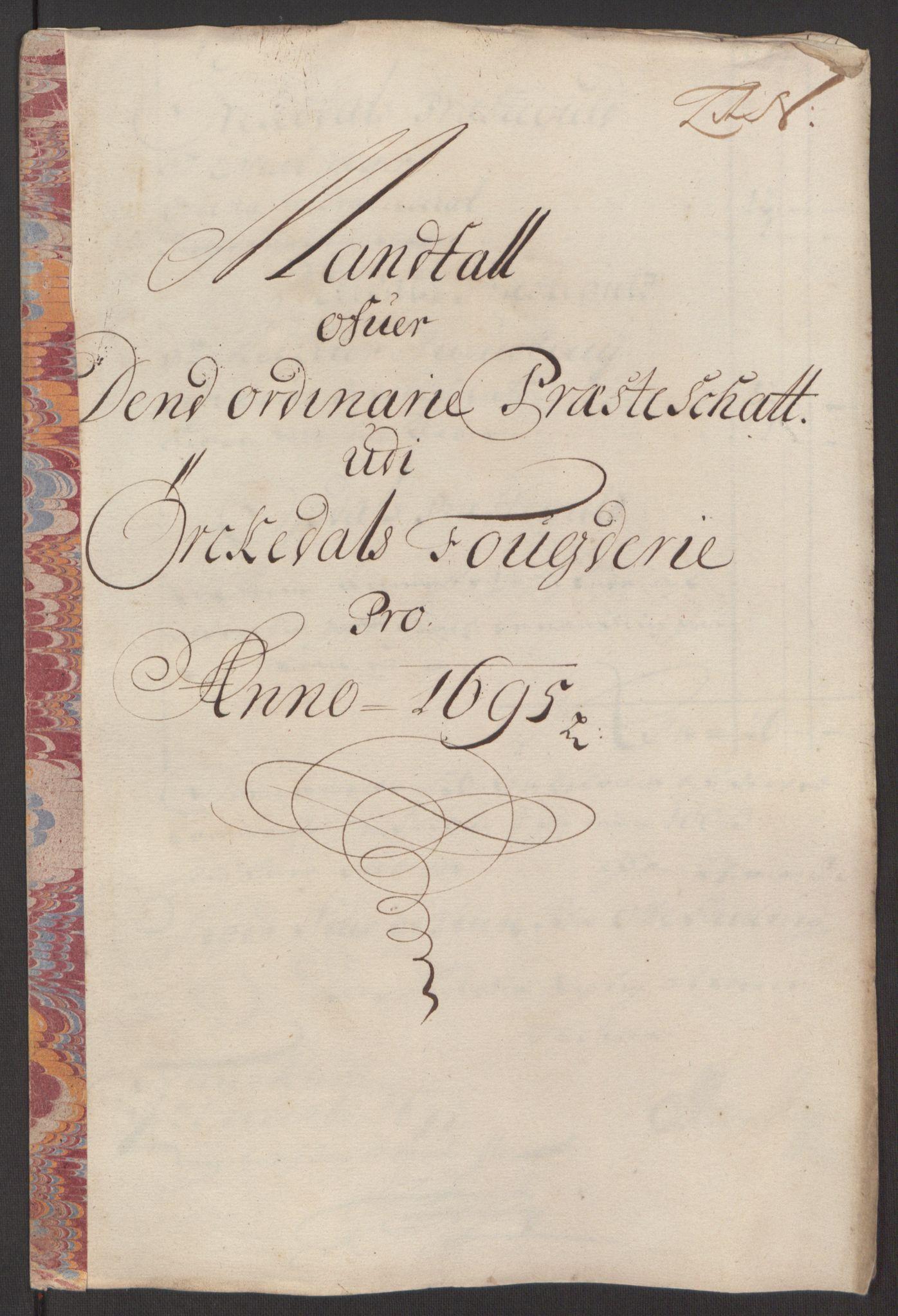 RA, Rentekammeret inntil 1814, Reviderte regnskaper, Fogderegnskap, R60/L3945: Fogderegnskap Orkdal og Gauldal, 1695, s. 207