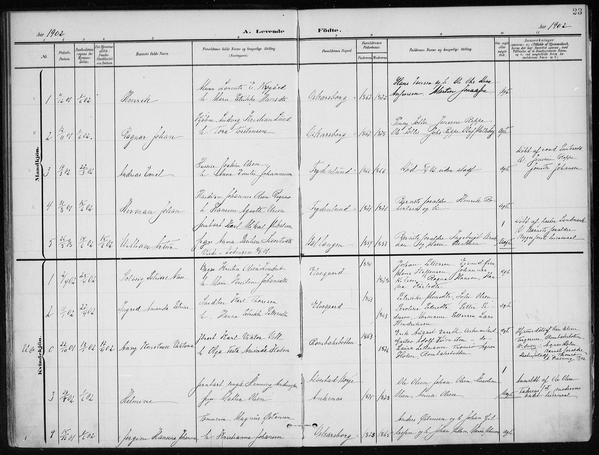 SAT, Ministerialprotokoller, klokkerbøker og fødselsregistre - Nordland, 866/L0941: Ministerialbok nr. 866A04, 1901-1917, s. 23