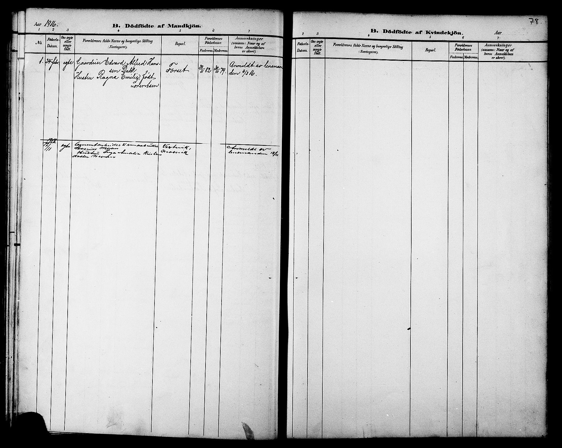 SAT, Ministerialprotokoller, klokkerbøker og fødselsregistre - Nord-Trøndelag, 733/L0327: Klokkerbok nr. 733C02, 1888-1918, s. 78