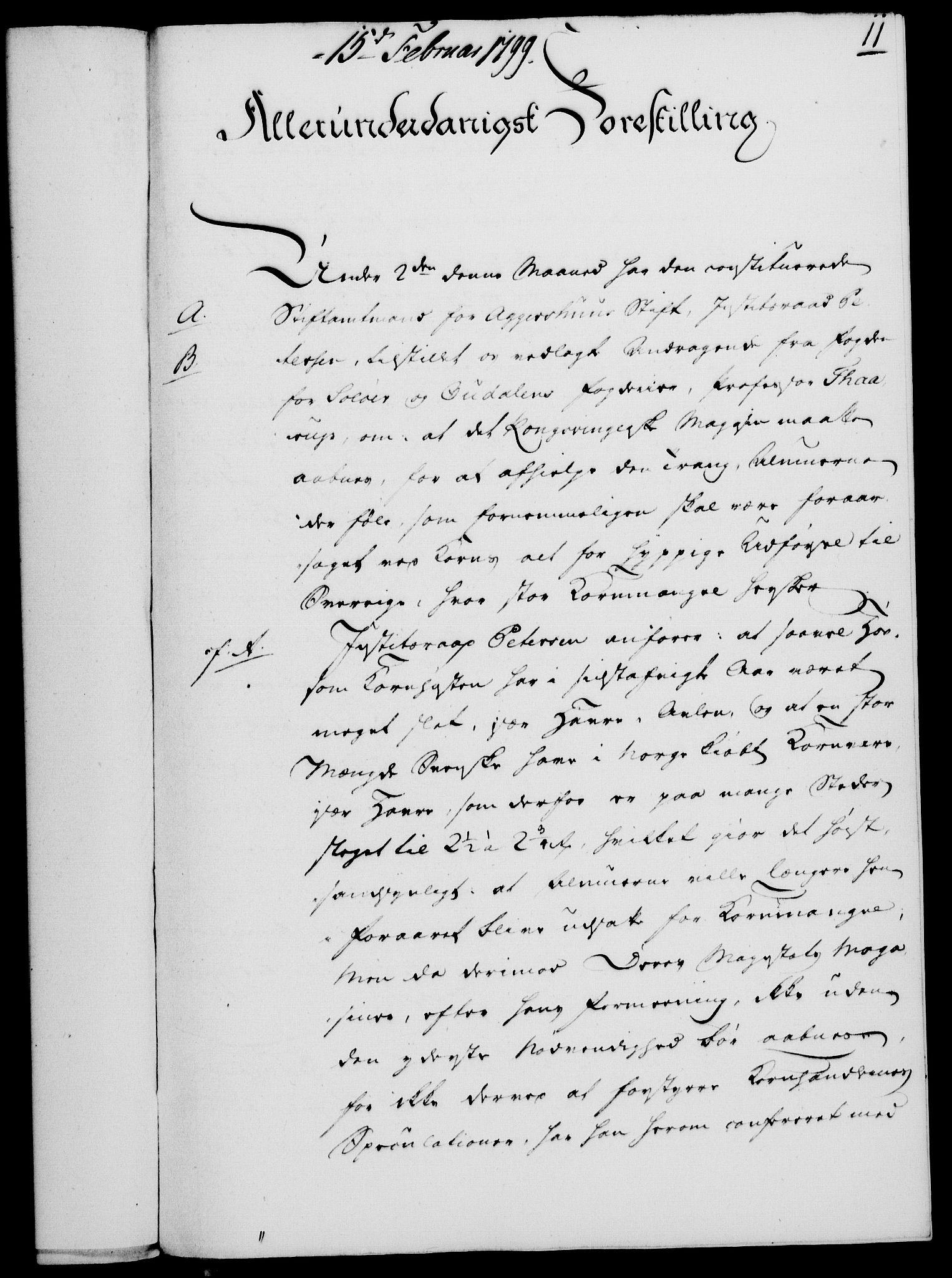 RA, Rentekammeret, Kammerkanselliet, G/Gf/Gfa/L0081: Norsk relasjons- og resolusjonsprotokoll (merket RK 52.81), 1799, s. 84