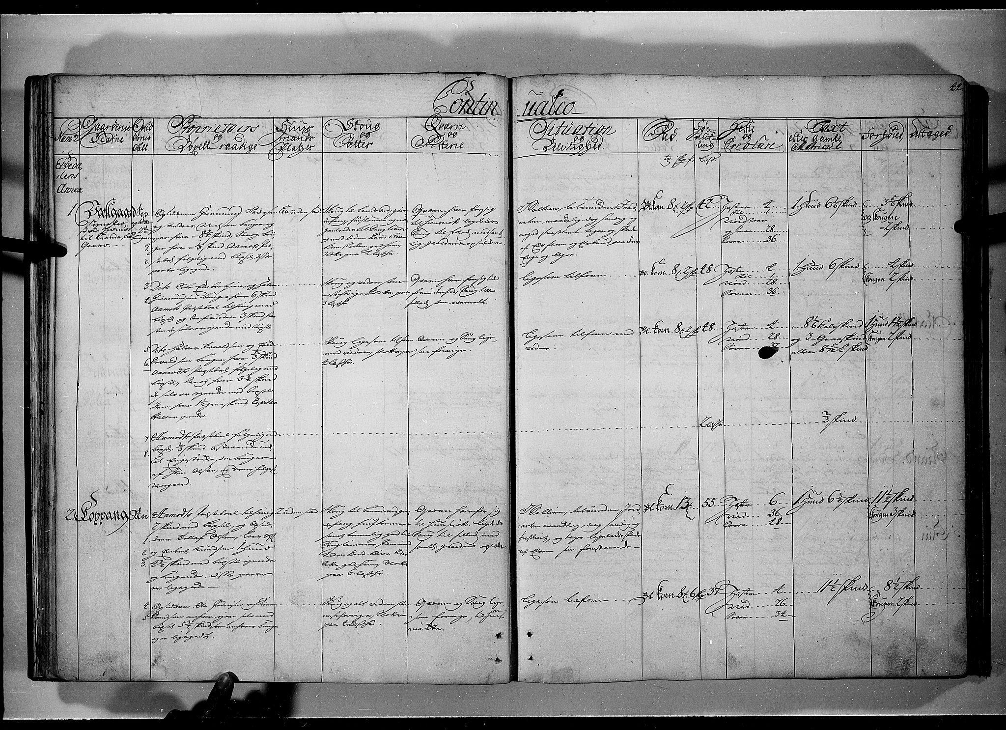 RA, Rentekammeret inntil 1814, Realistisk ordnet avdeling, N/Nb/Nbf/L0101: Solør, Østerdalen og Odal eksaminasjonsprotokoll, 1723, s. 43b-44a