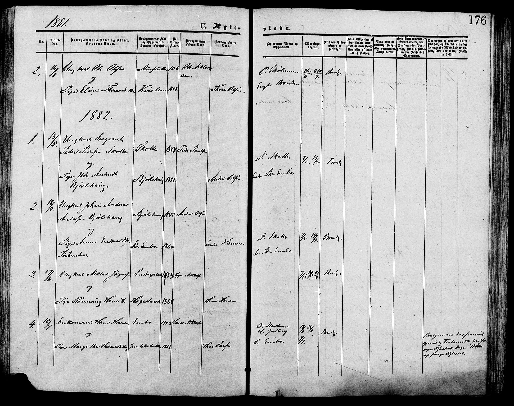 SAH, Lesja prestekontor, Ministerialbok nr. 9, 1854-1889, s. 176