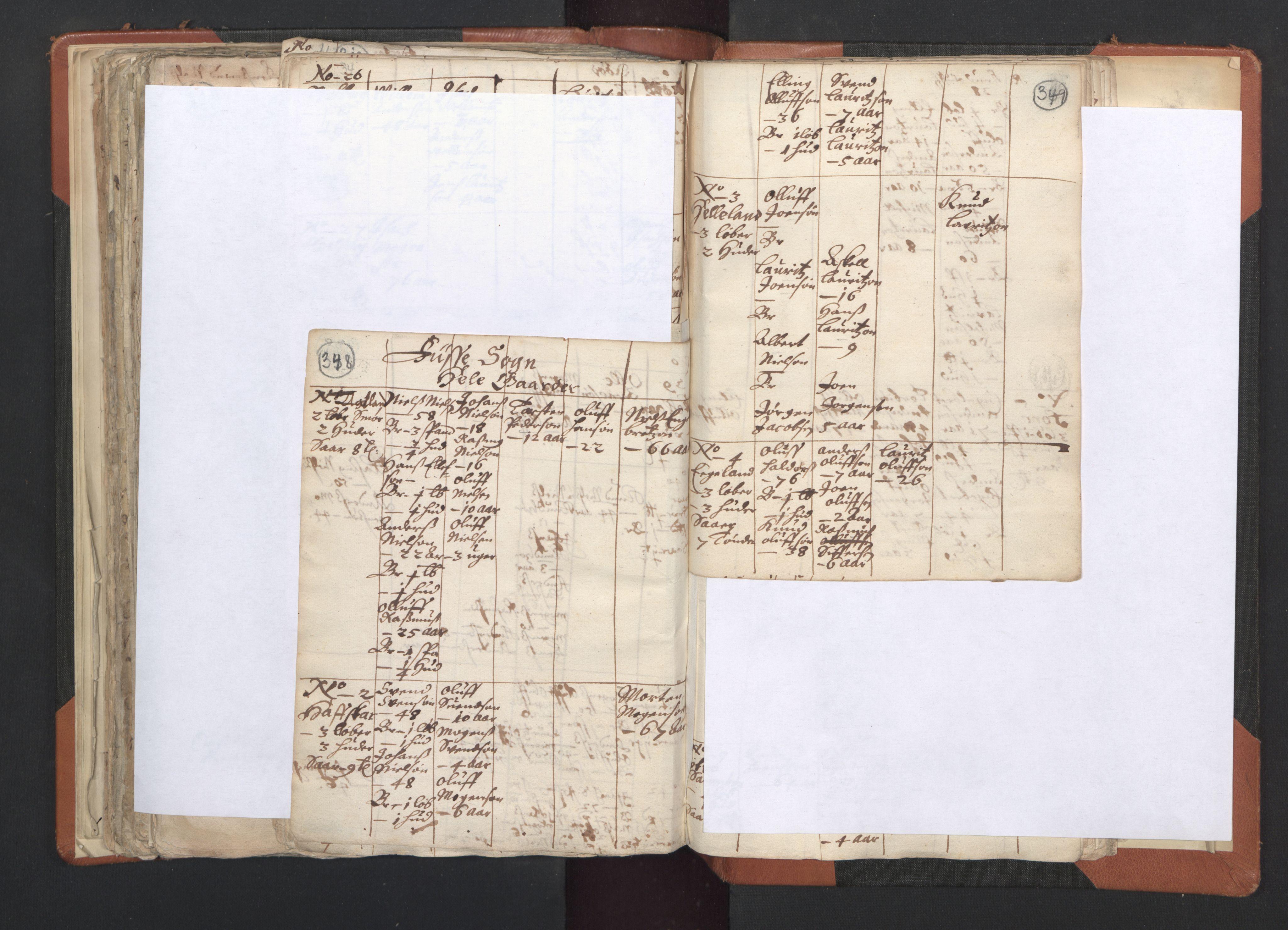 RA, Sogneprestenes manntall 1664-1666, nr. 20: Sunnhordland prosti, 1664-1666, s. 348-349