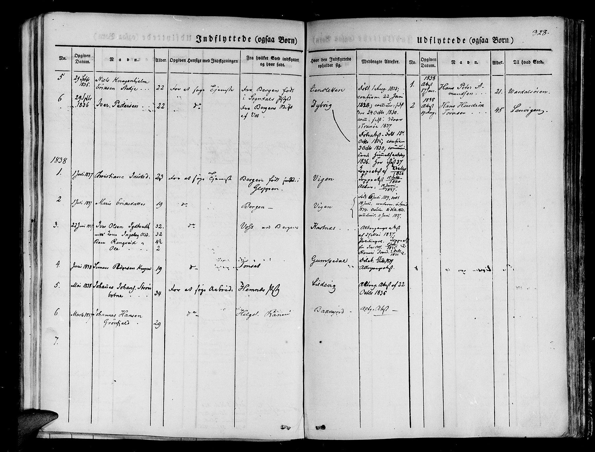 SATØ, Tranøy sokneprestkontor, I/Ia/Iaa/L0005kirke: Ministerialbok nr. 5, 1829-1844, s. 328