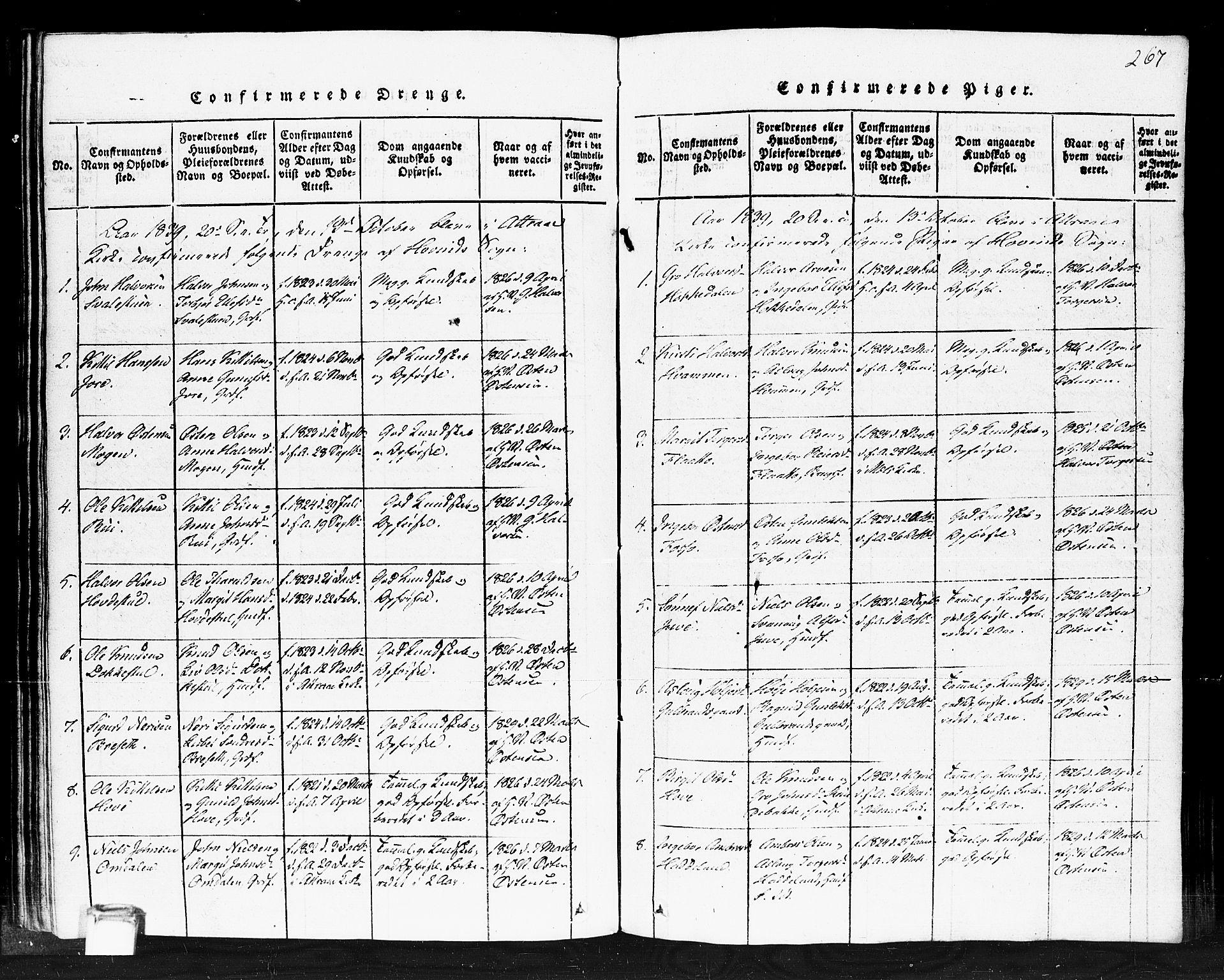 SAKO, Gransherad kirkebøker, F/Fb/L0002: Ministerialbok nr. II 2, 1815-1843, s. 267