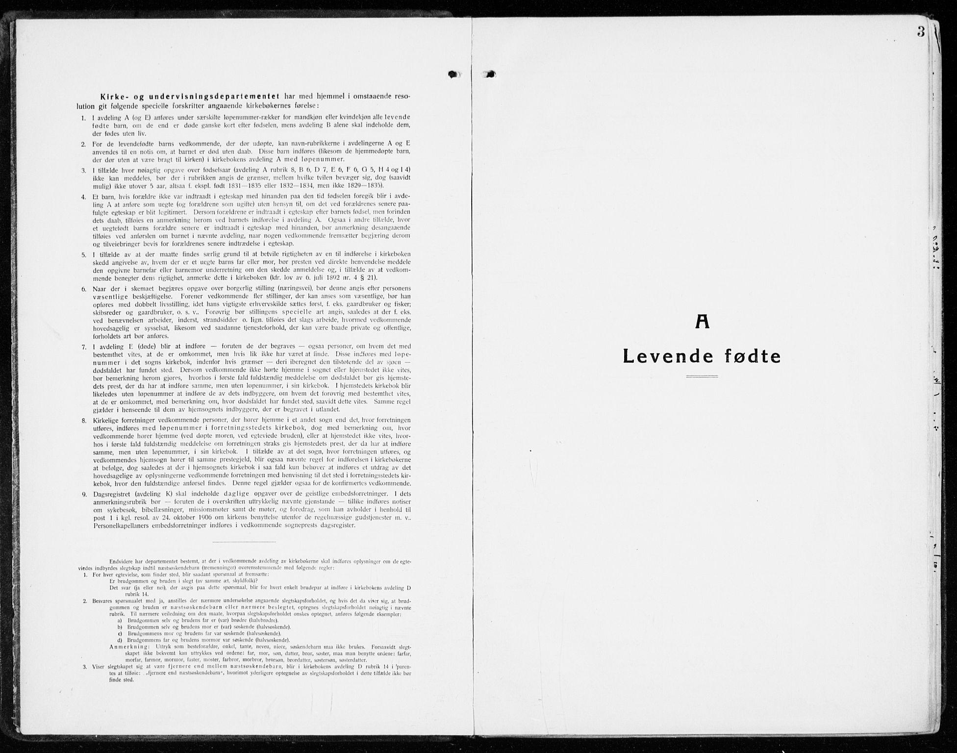 SAH, Stange prestekontor, K/L0025: Ministerialbok nr. 25, 1921-1945, s. 3
