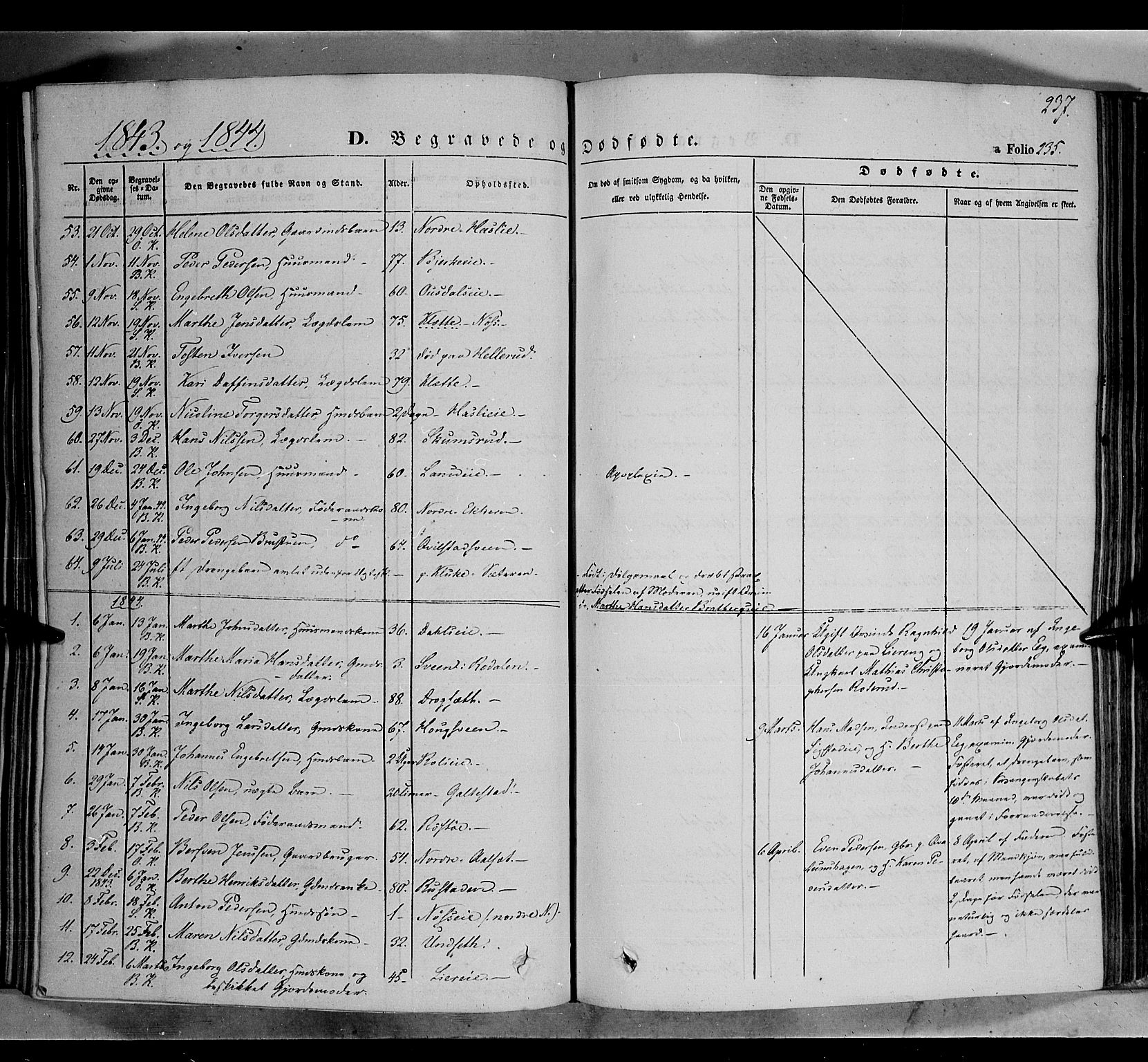 SAH, Biri prestekontor, Ministerialbok nr. 5, 1843-1854, s. 237