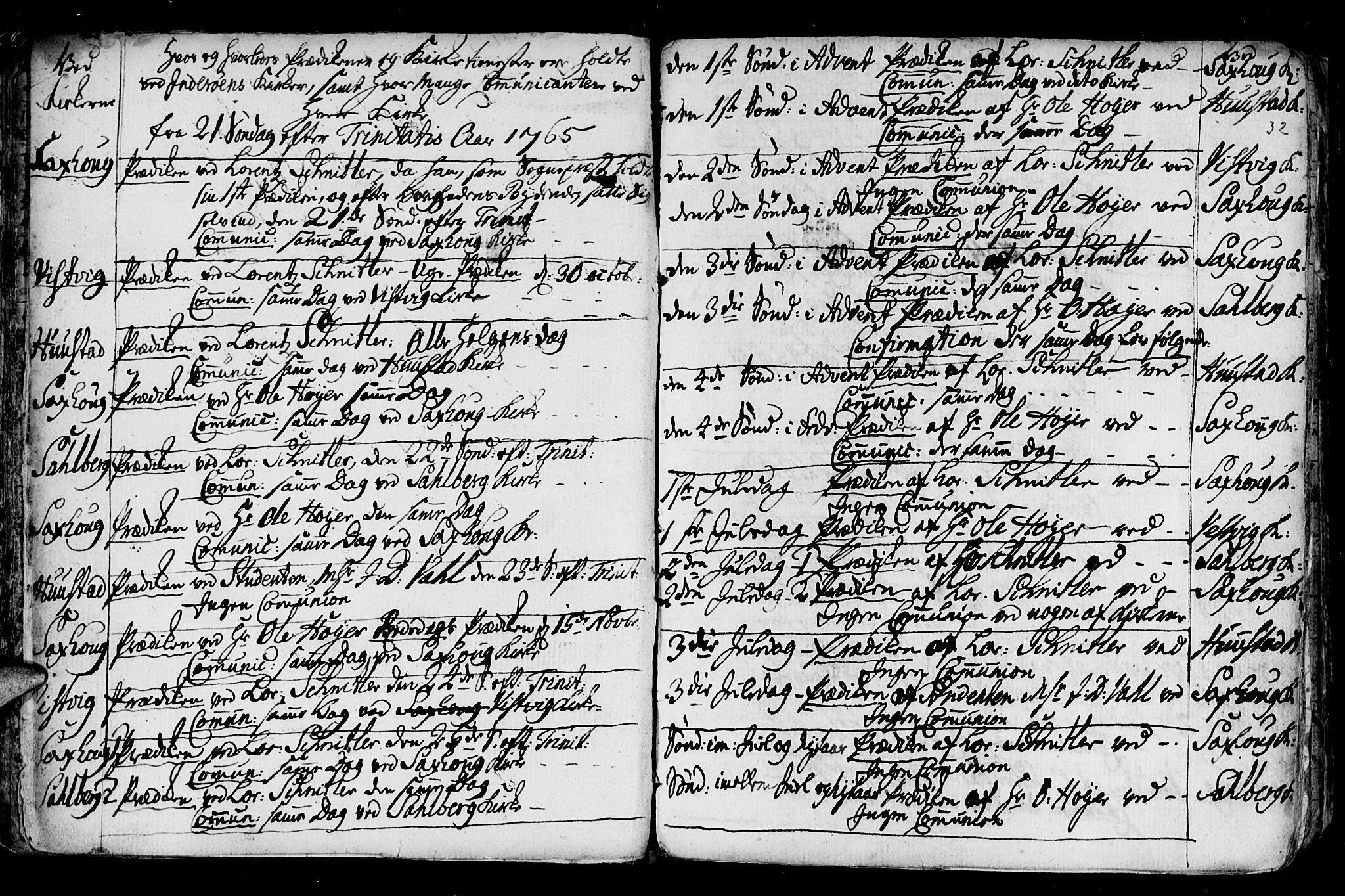 SAT, Ministerialprotokoller, klokkerbøker og fødselsregistre - Nord-Trøndelag, 730/L0273: Ministerialbok nr. 730A02, 1762-1802, s. 32