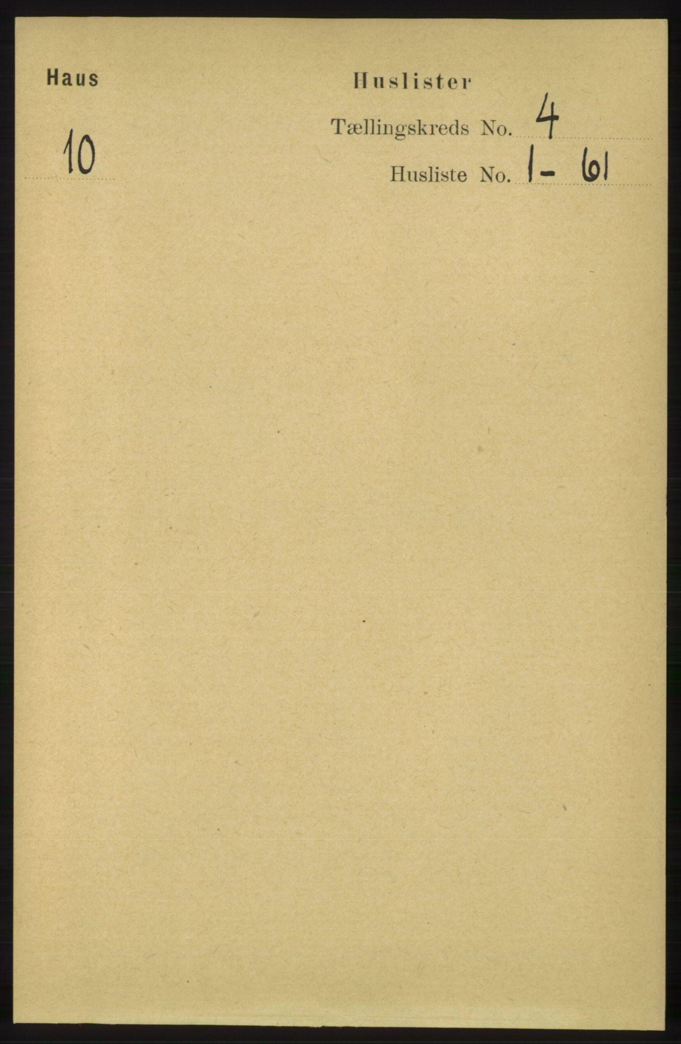RA, Folketelling 1891 for 1250 Haus herred, 1891, s. 1341