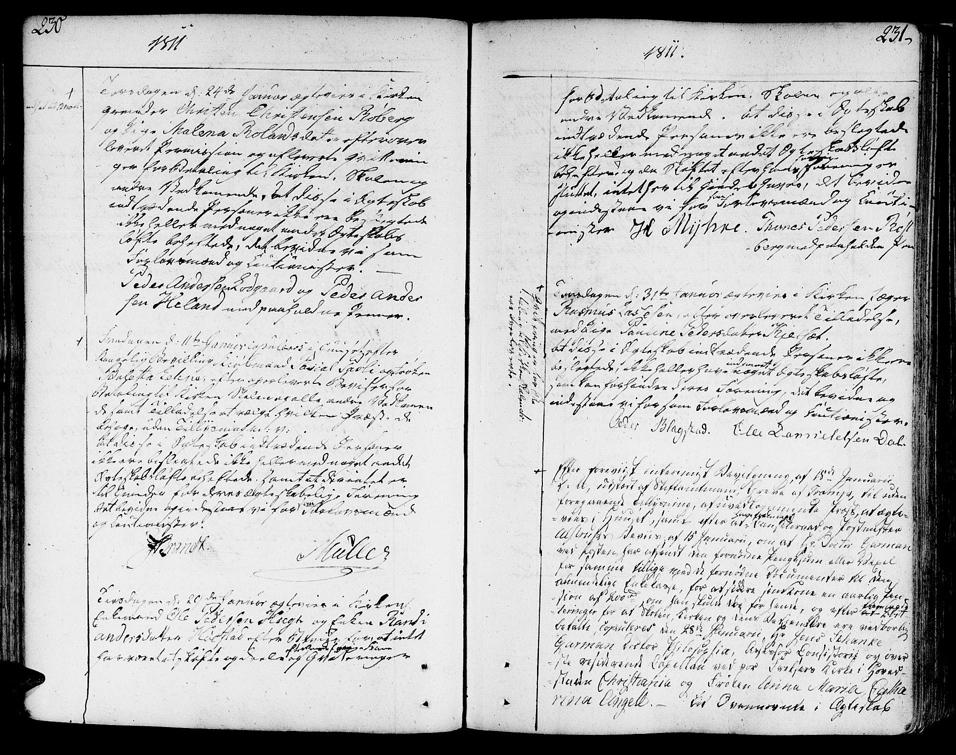 SAT, Ministerialprotokoller, klokkerbøker og fødselsregistre - Sør-Trøndelag, 602/L0105: Ministerialbok nr. 602A03, 1774-1814, s. 230-231