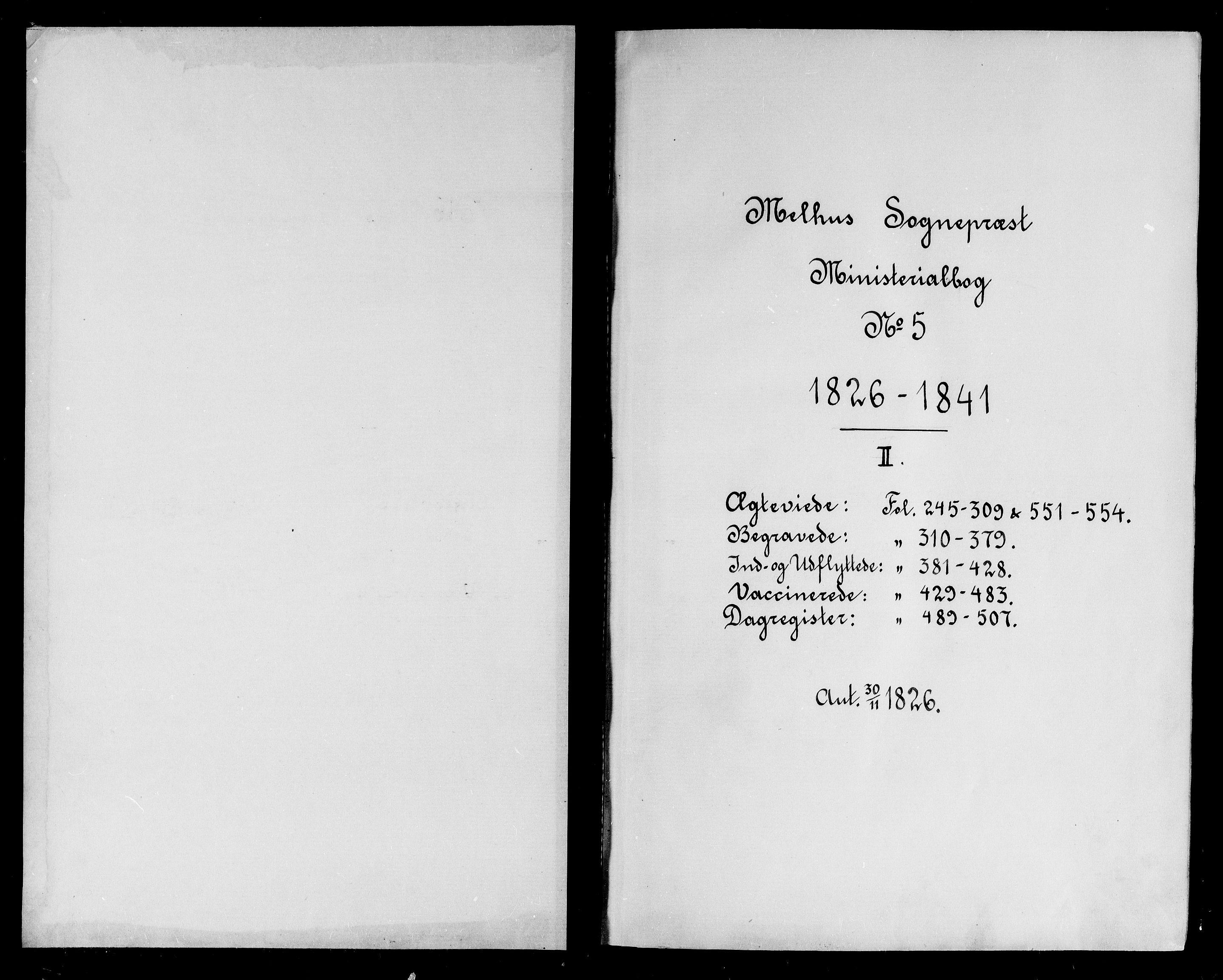 SAT, Ministerialprotokoller, klokkerbøker og fødselsregistre - Sør-Trøndelag, 691/L1071: Ministerialbok nr. 691A05 /2, 1826-1841
