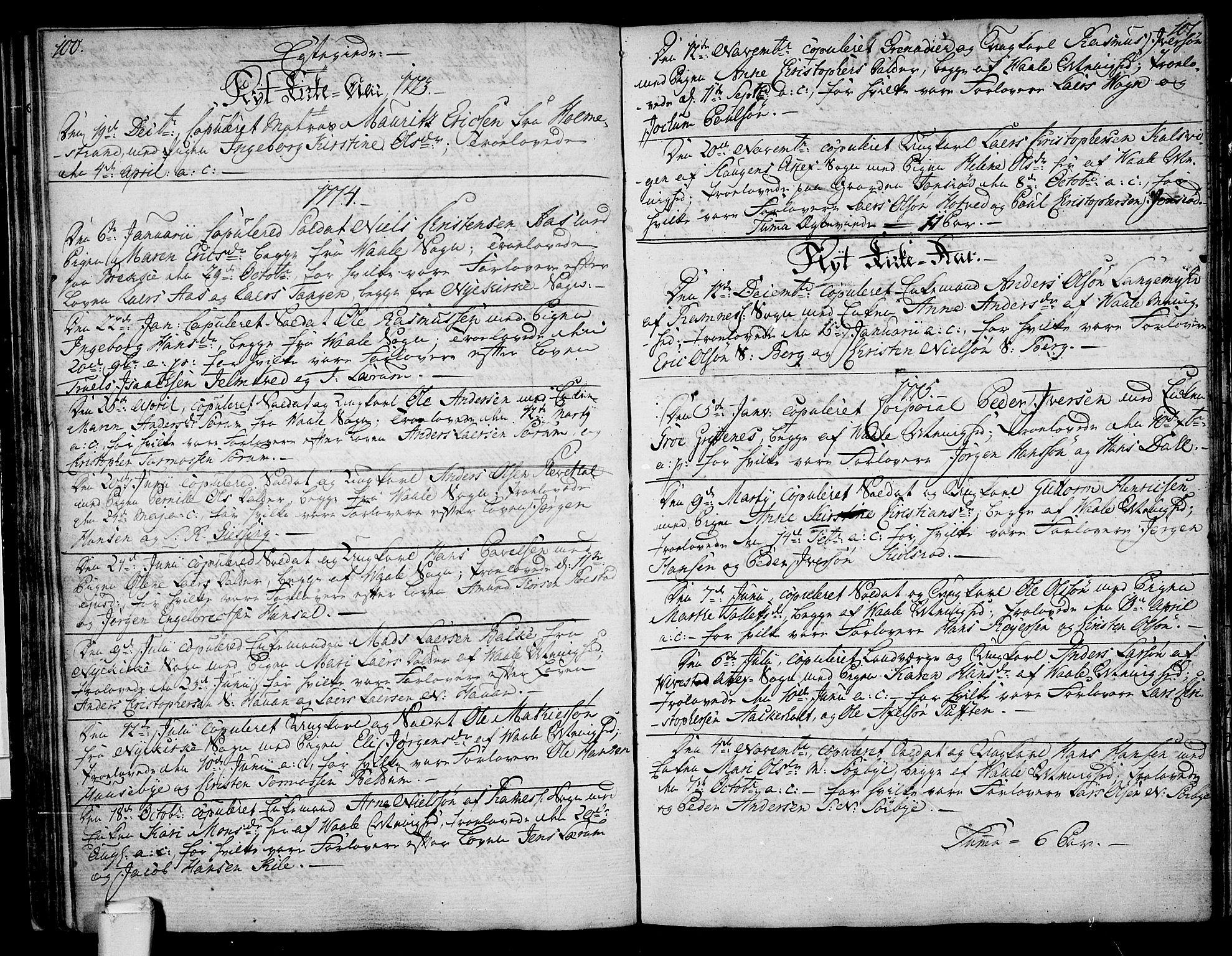 SAKO, Våle kirkebøker, F/Fa/L0005: Ministerialbok nr. I 5, 1773-1808, s. 100-101