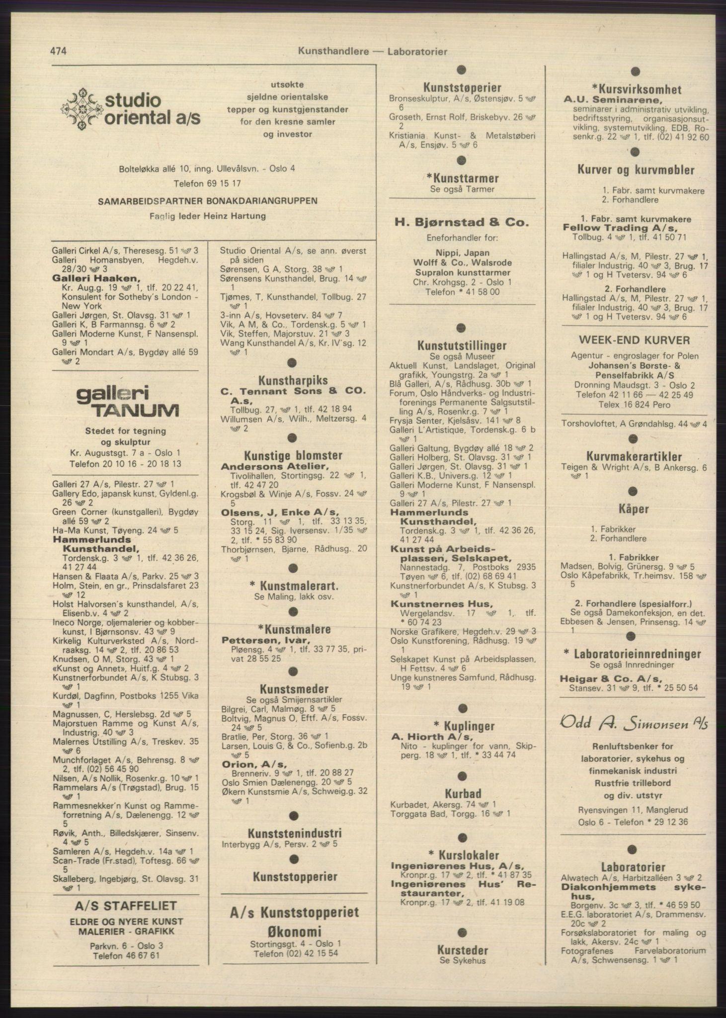 PUBL, Kristiania/Oslo adressebok, 1980-1981, s. 474