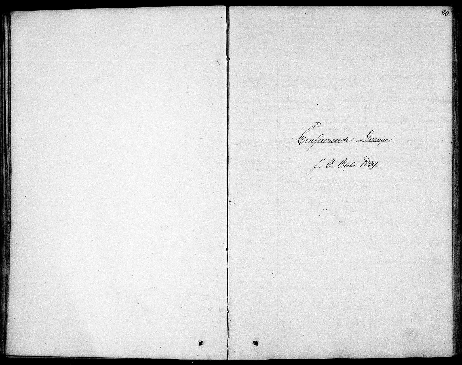 SAO, Garnisonsmenigheten Kirkebøker, F/Fa/L0007: Ministerialbok nr. 7, 1828-1881, s. 80