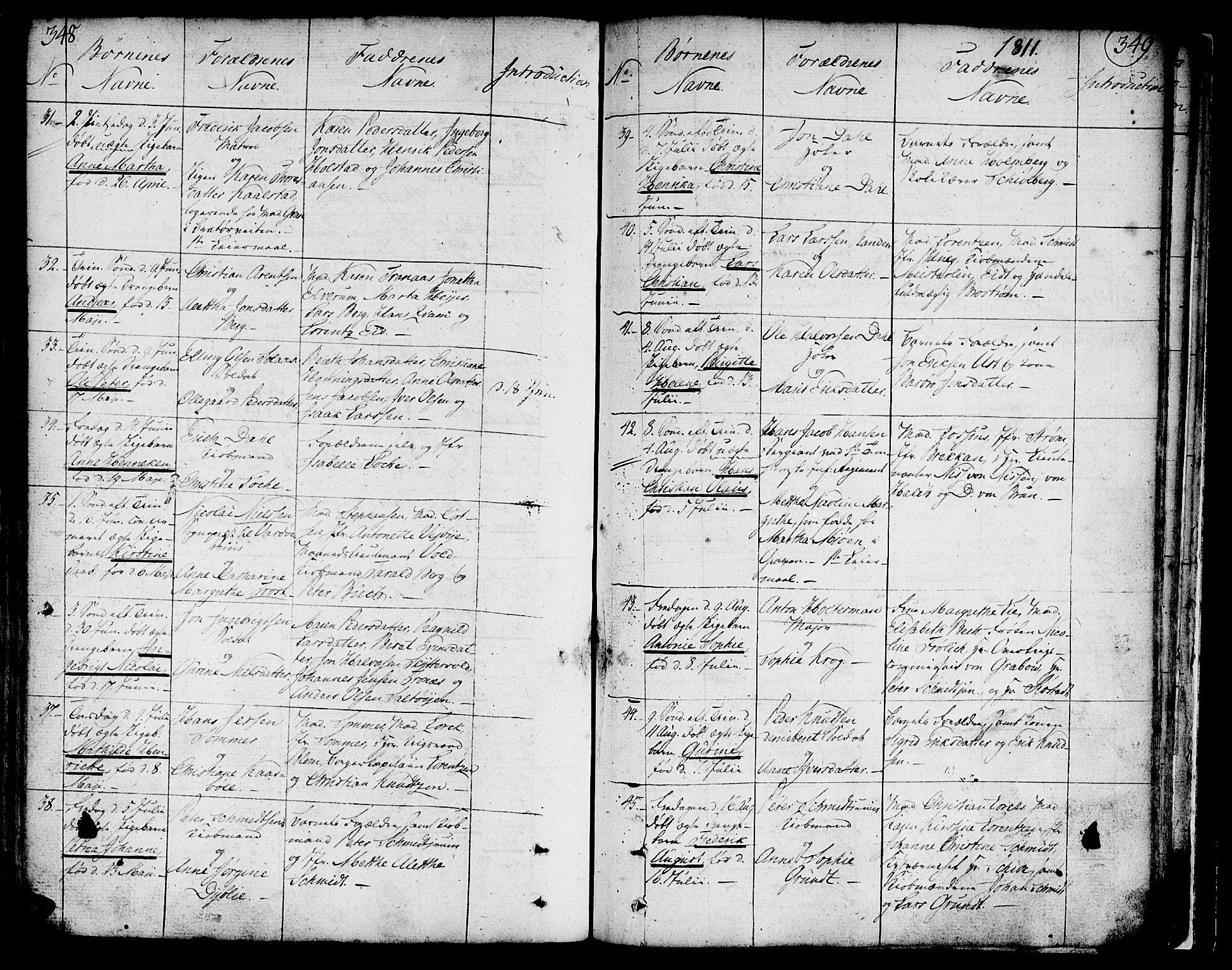 SAT, Ministerialprotokoller, klokkerbøker og fødselsregistre - Sør-Trøndelag, 602/L0104: Ministerialbok nr. 602A02, 1774-1814, s. 348-349
